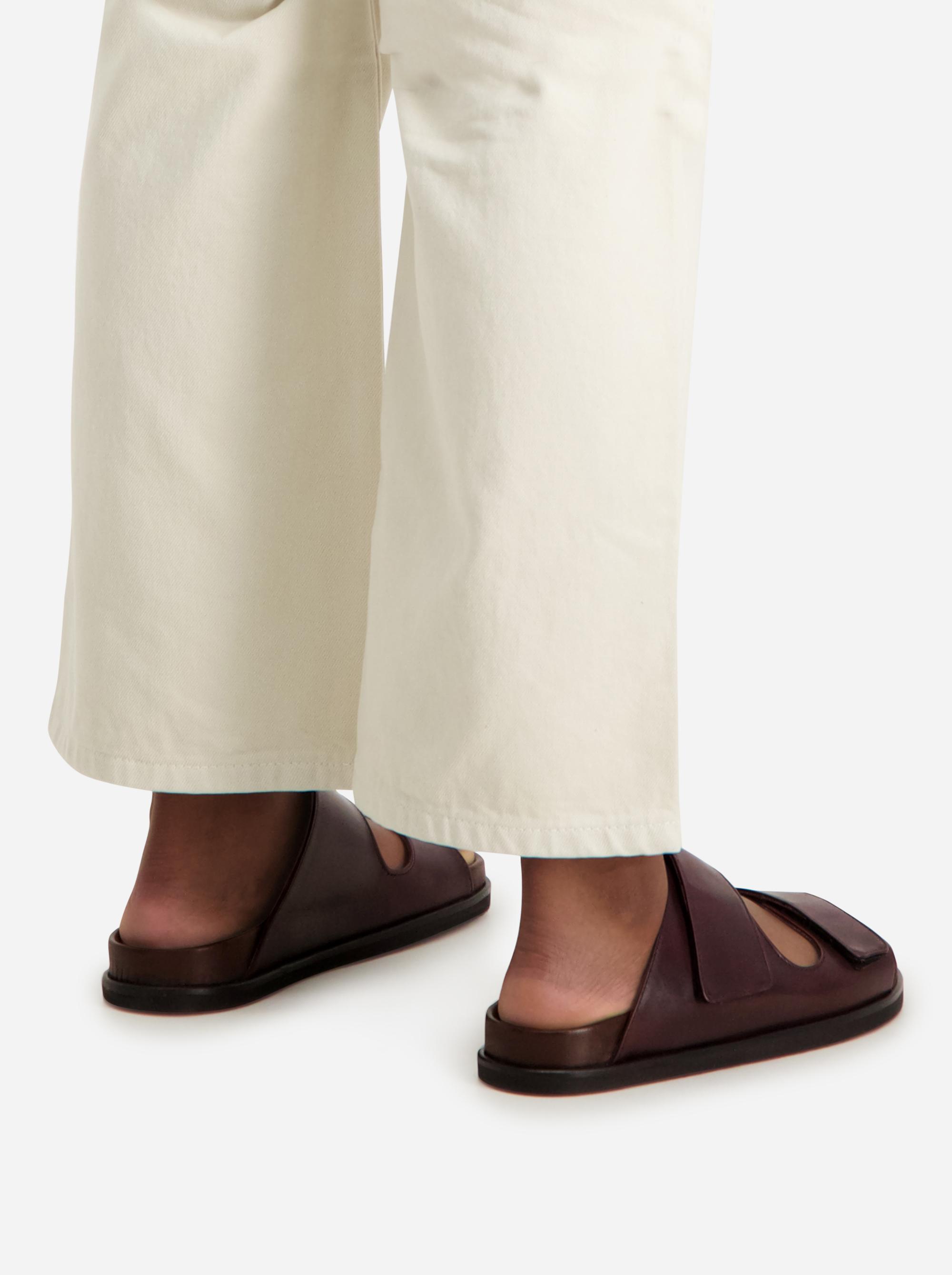 Teym - The Sandal - Burgundy - Women- 2