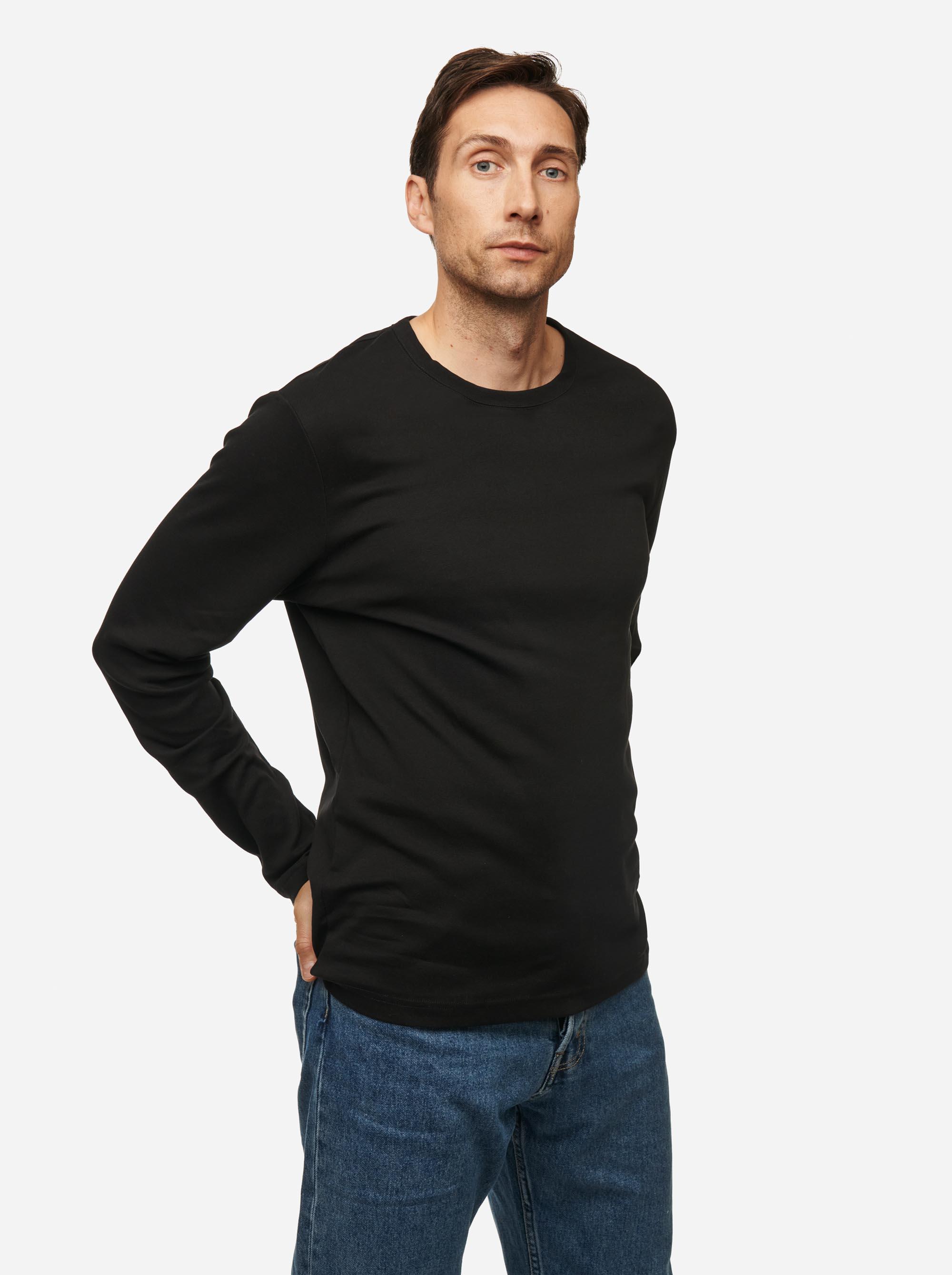 Teym - The-T-Shirt - Longsleeve - Men - Black - 2