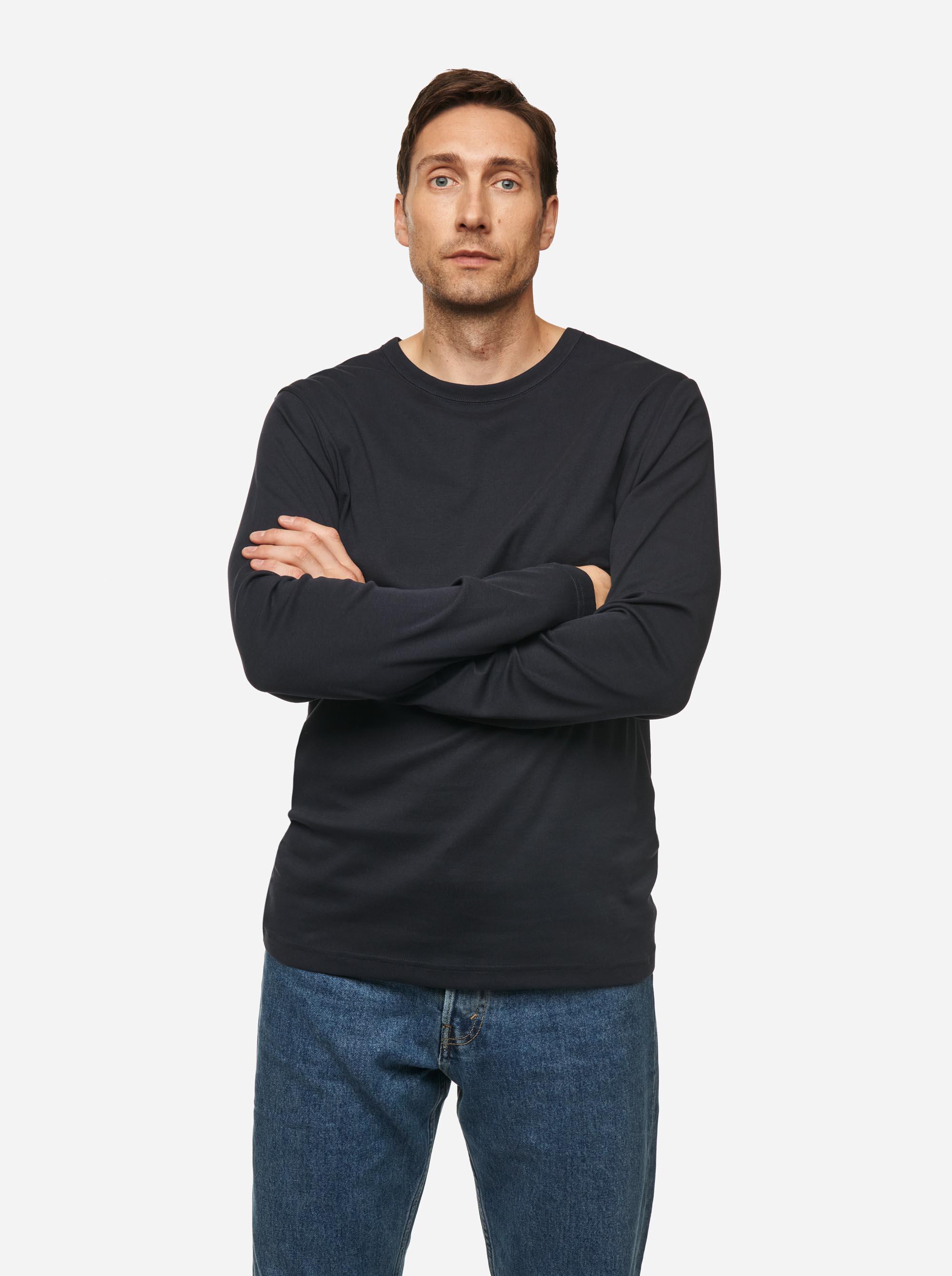 Teym - The-T-Shirt - Longsleeve - Men - Blue - 1