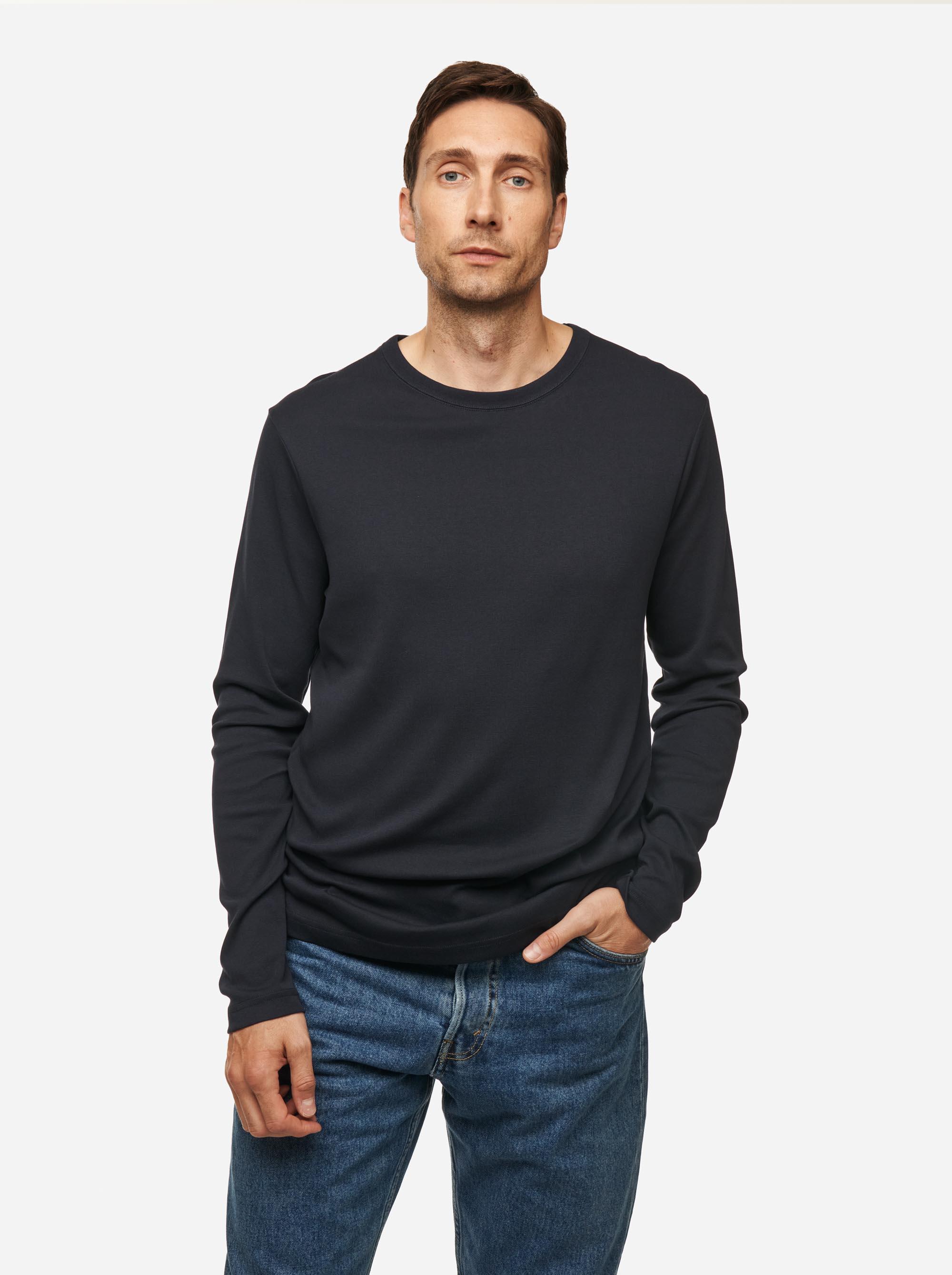 Teym - The-T-Shirt - Longsleeve - Men - Blue - 2