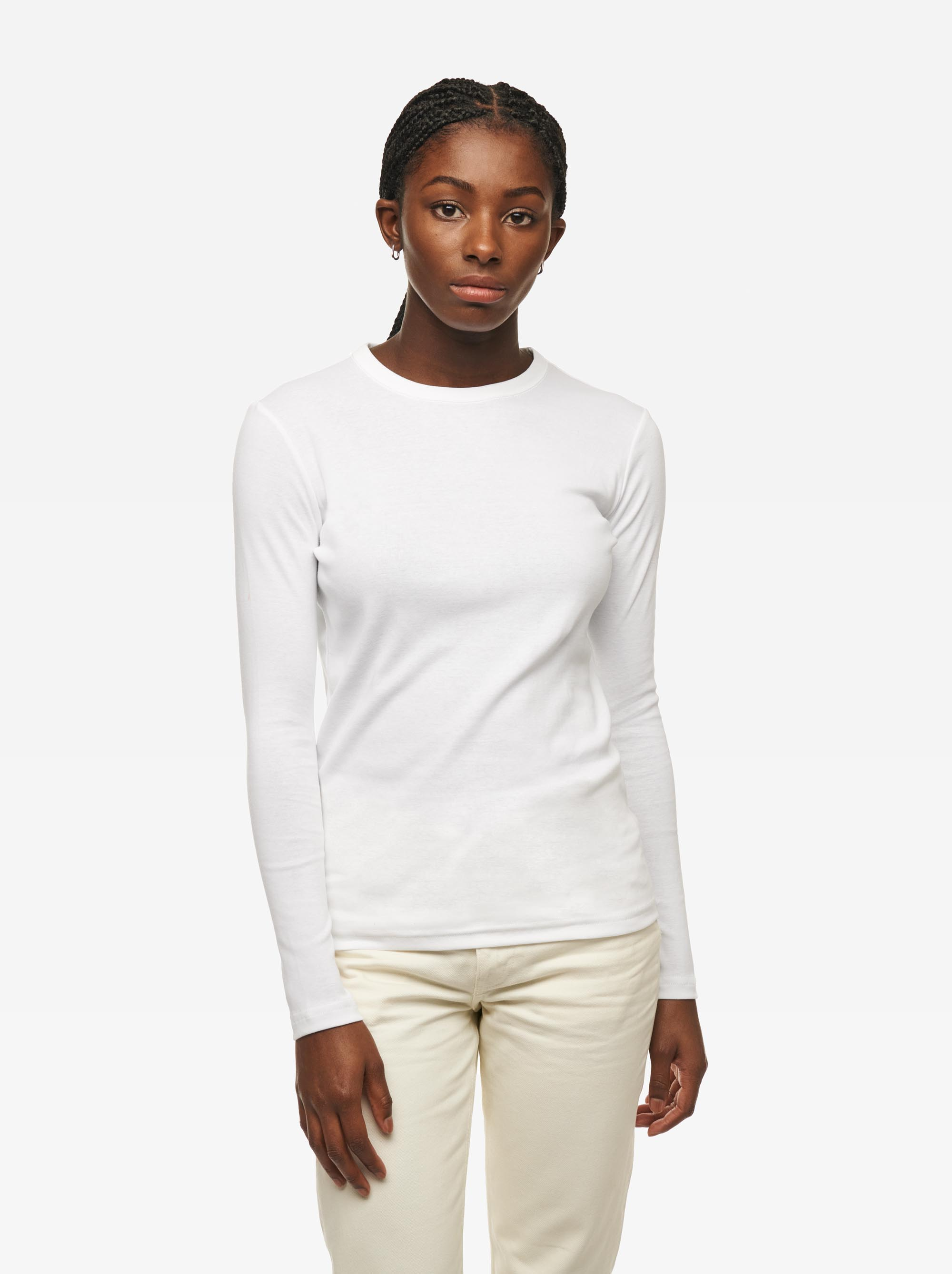 Teym - The-T-Shirt - Longsleeve - Women - White - 2
