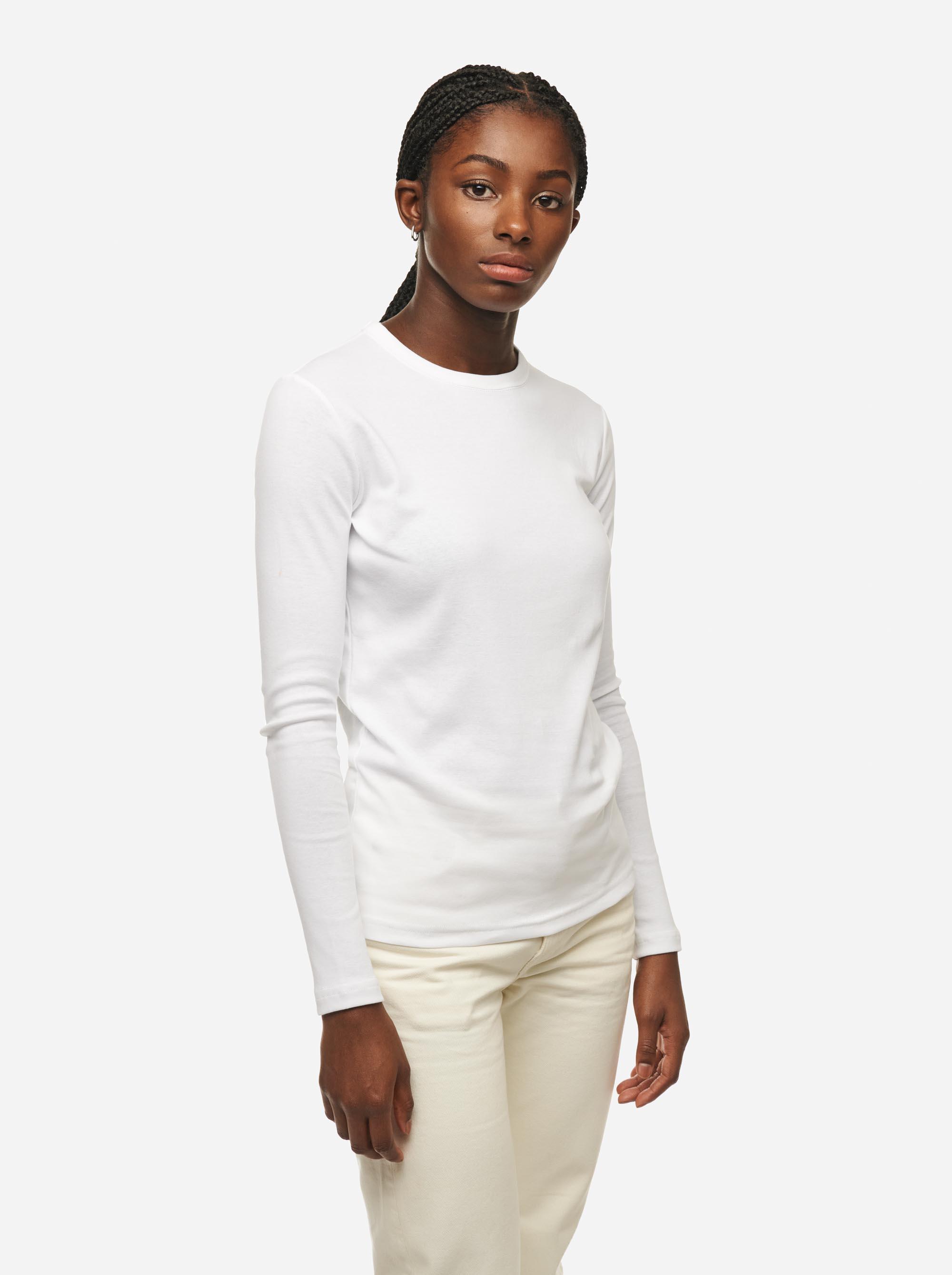 Teym - The-T-Shirt - Longsleeve - Women - White - 3