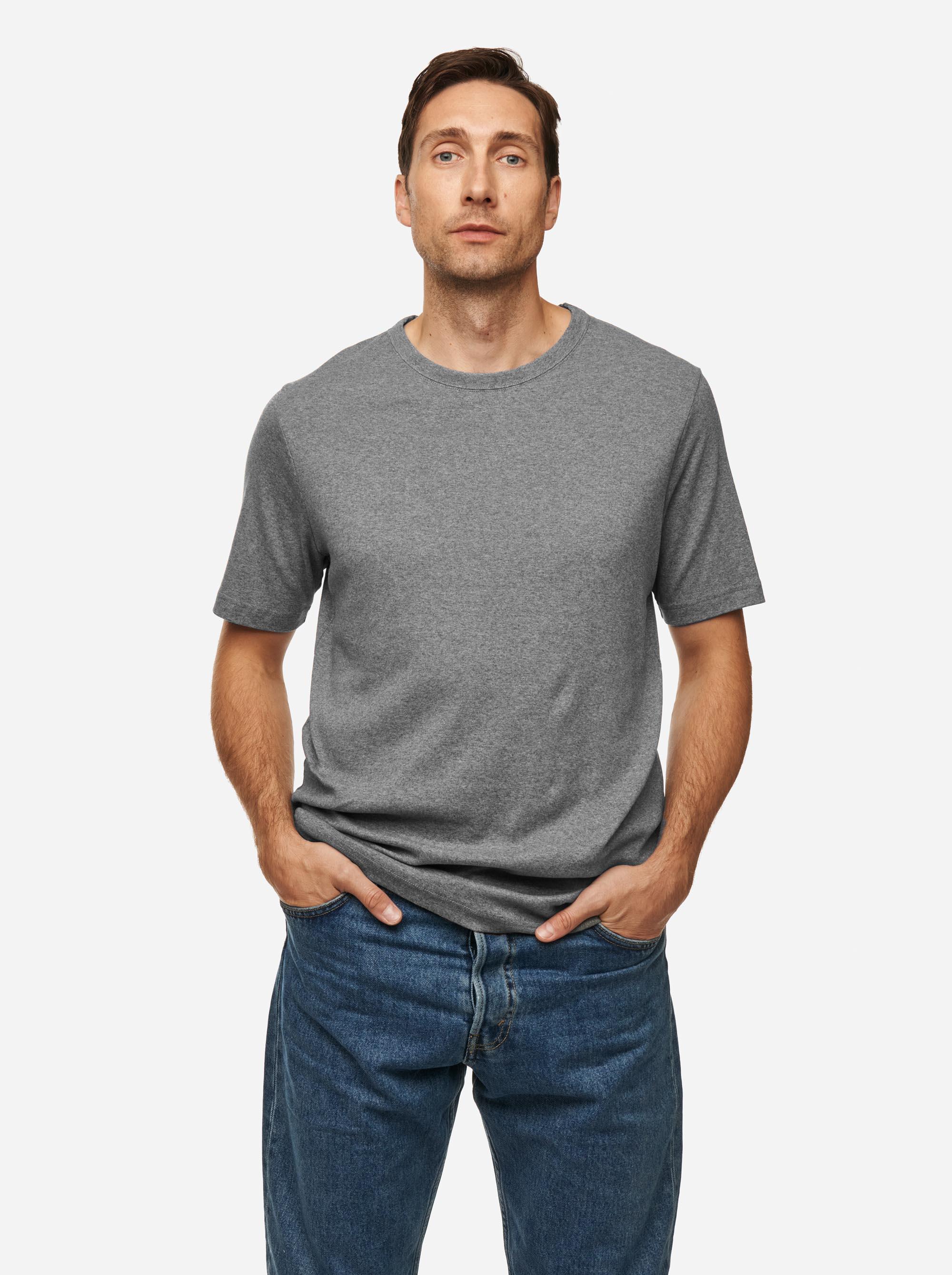 Teym - The T-Shirt - Men - Melange grey - 1B