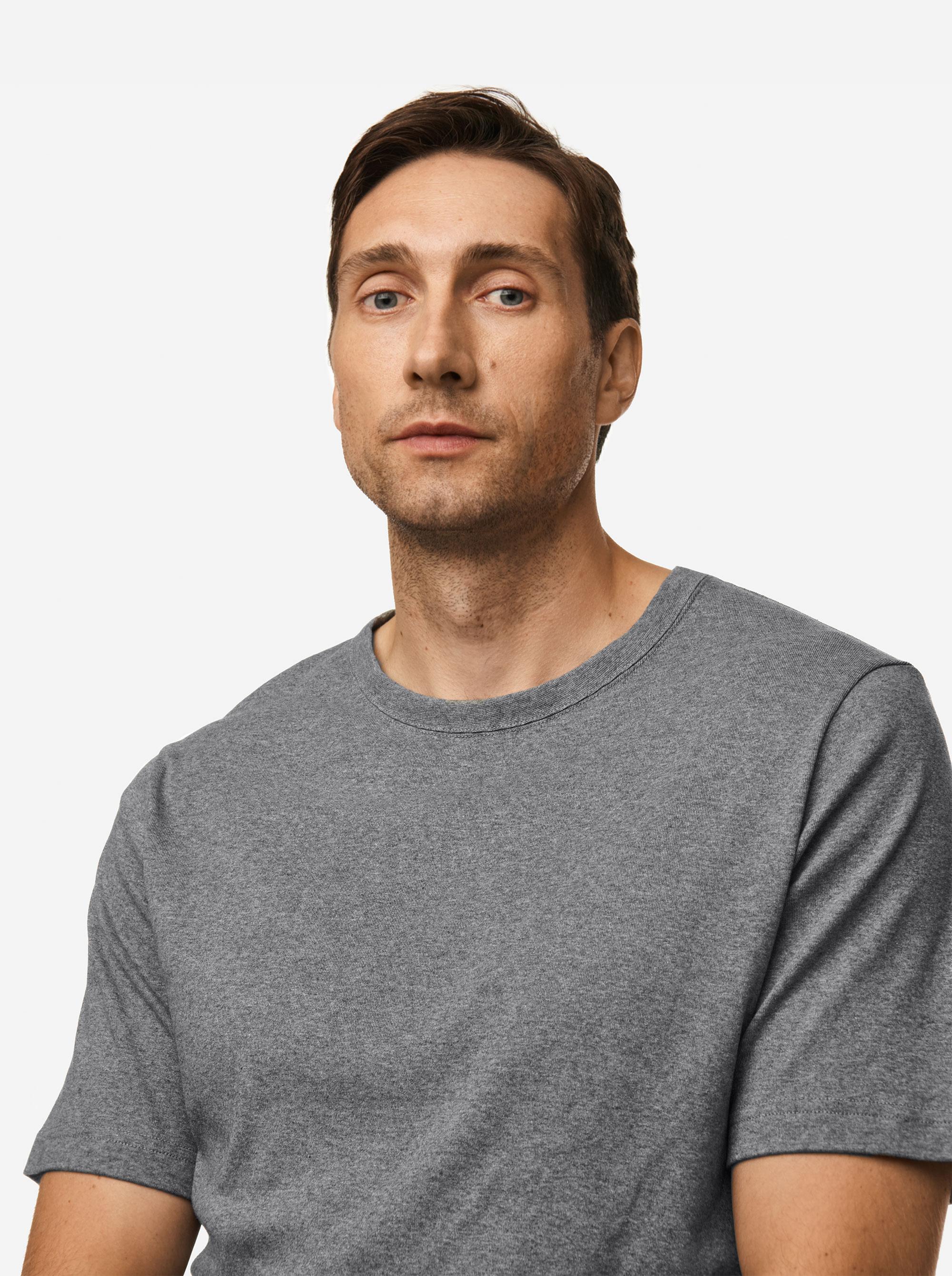 Teym - The T-Shirt - Men - Melange grey - 3B