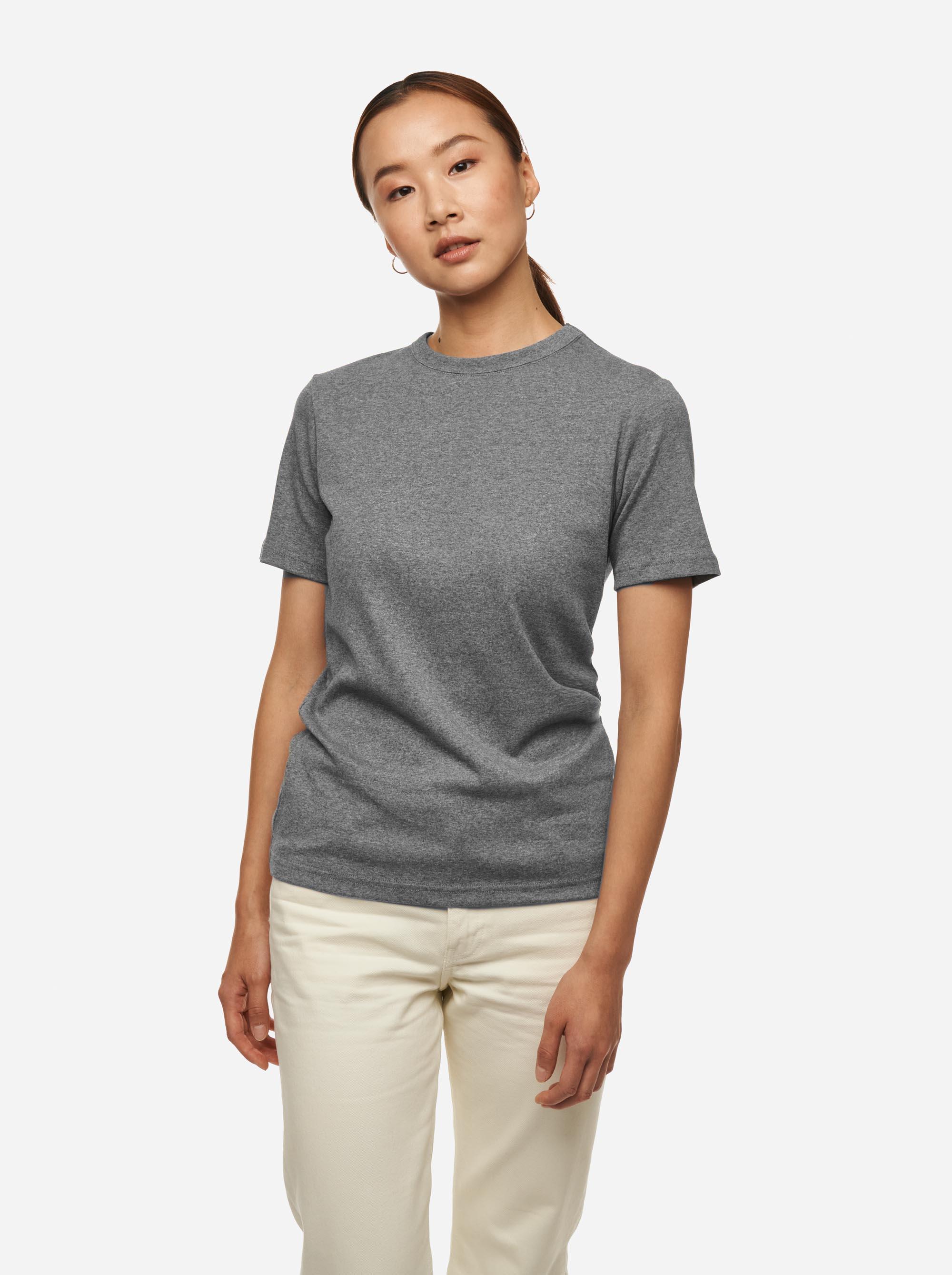 Teym - The T-Shirt - Women - Melange grey - 1B