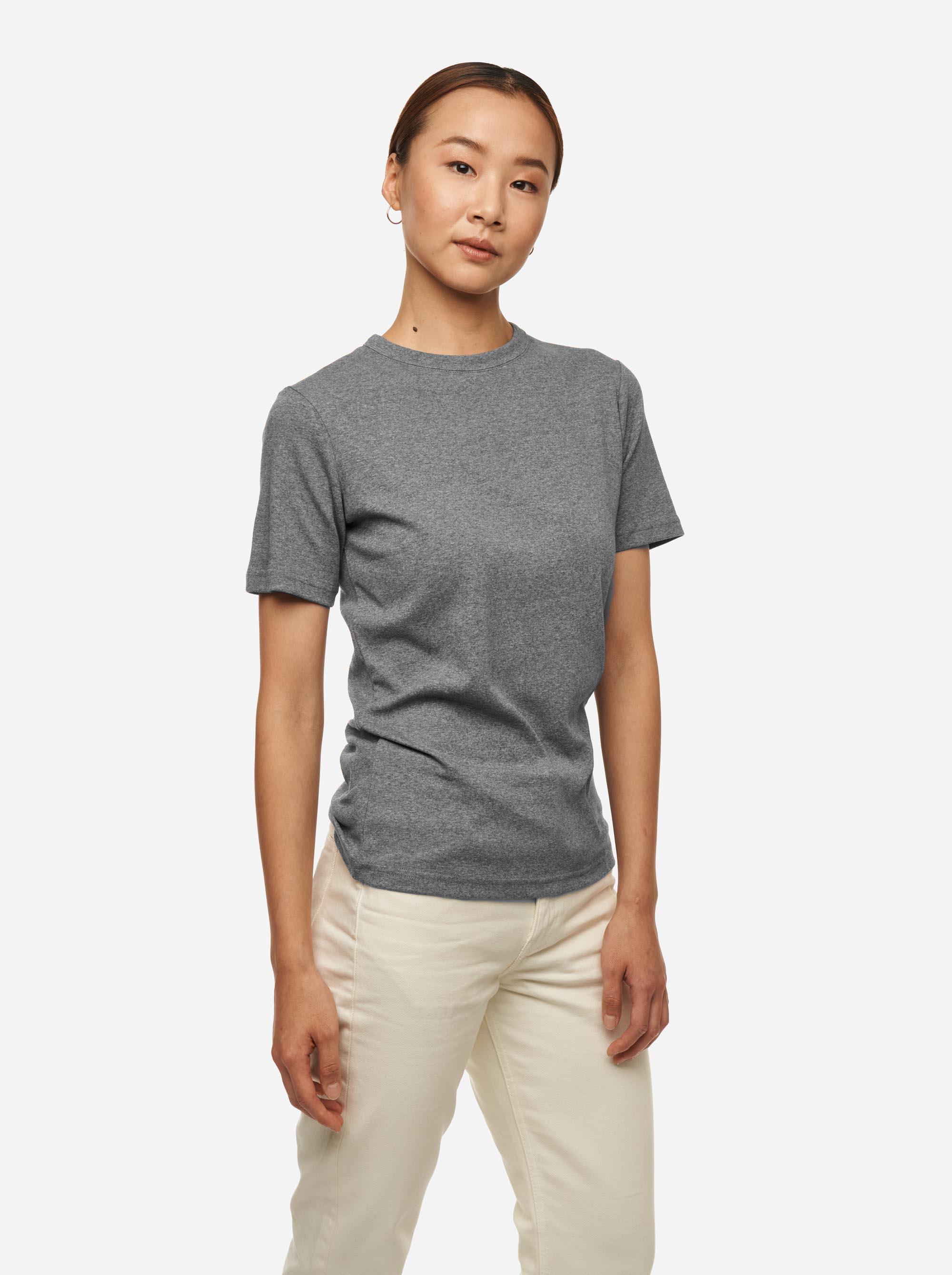 Teym - The T-Shirt - Women - Melange grey - 2B
