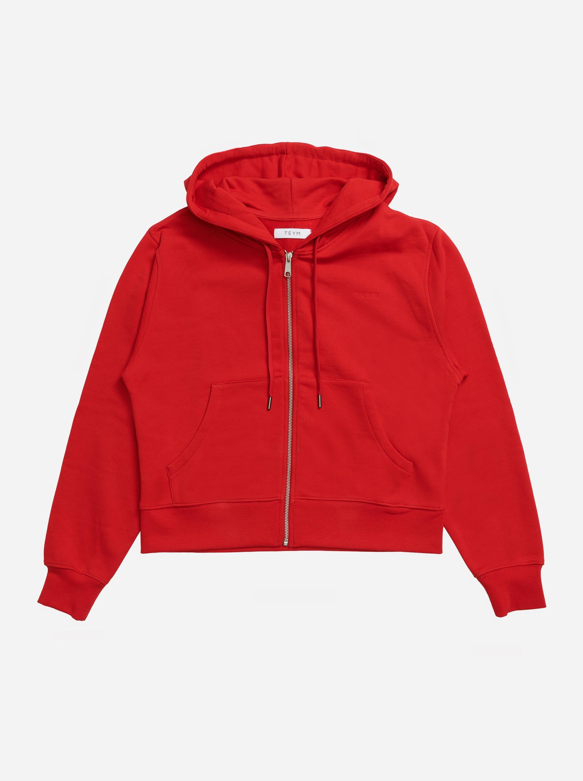 Teym-The-Zip-Hoodie-Women-Red-4