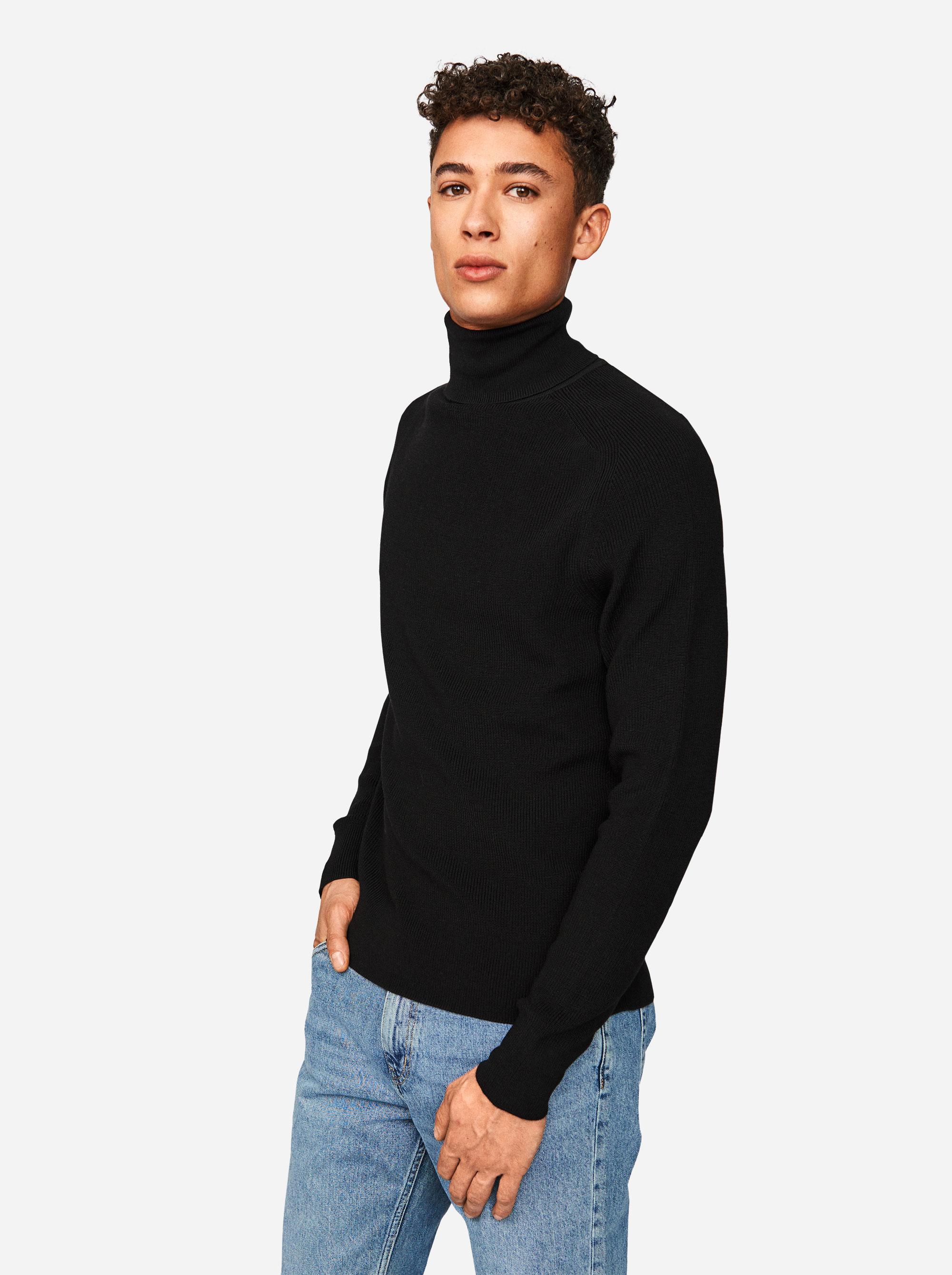 Teym - Turtleneck - The Merino Sweater - Men - Black - 1