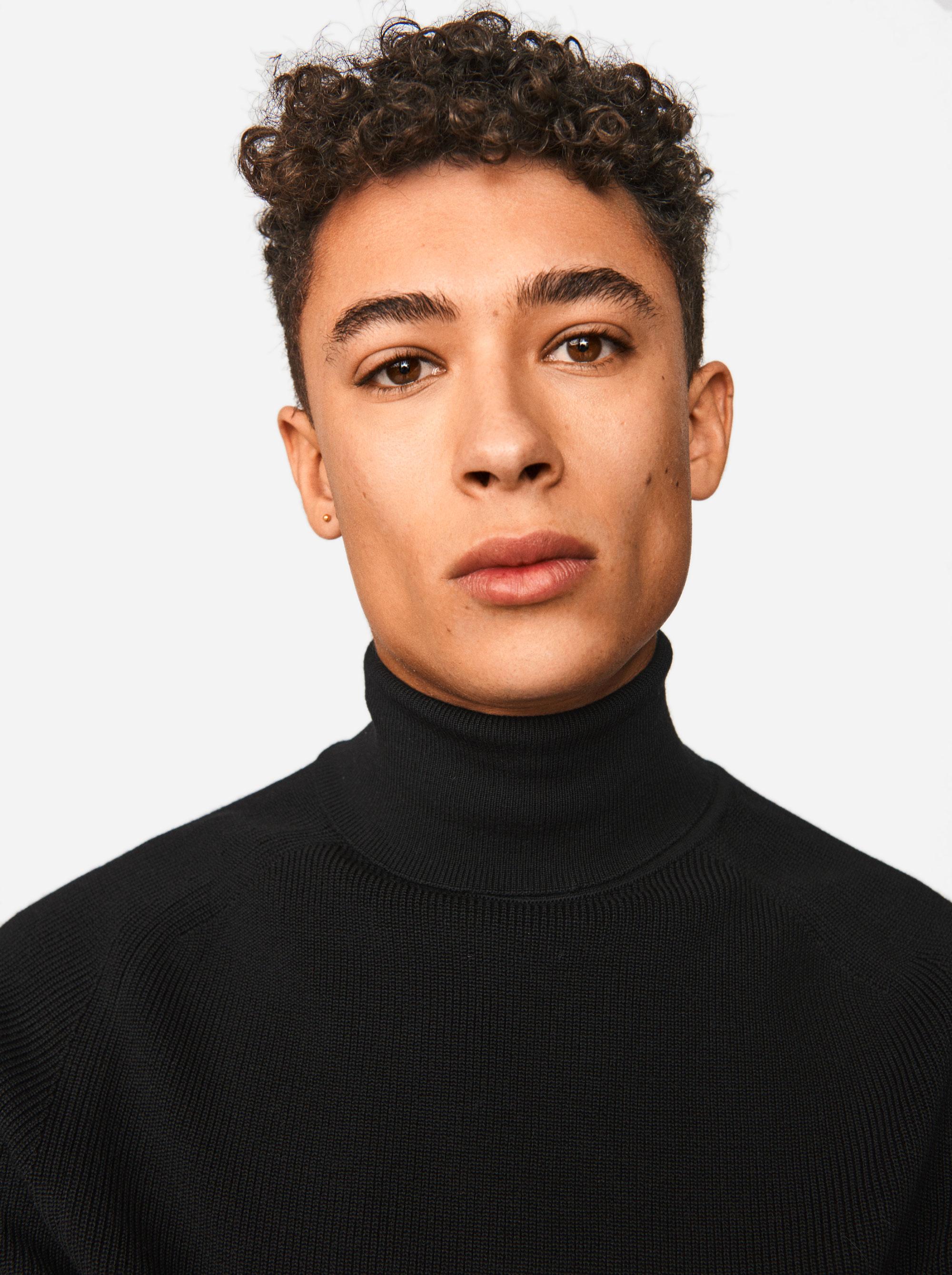 Teym - Turtleneck - The Merino Sweater - Men - Black - 2