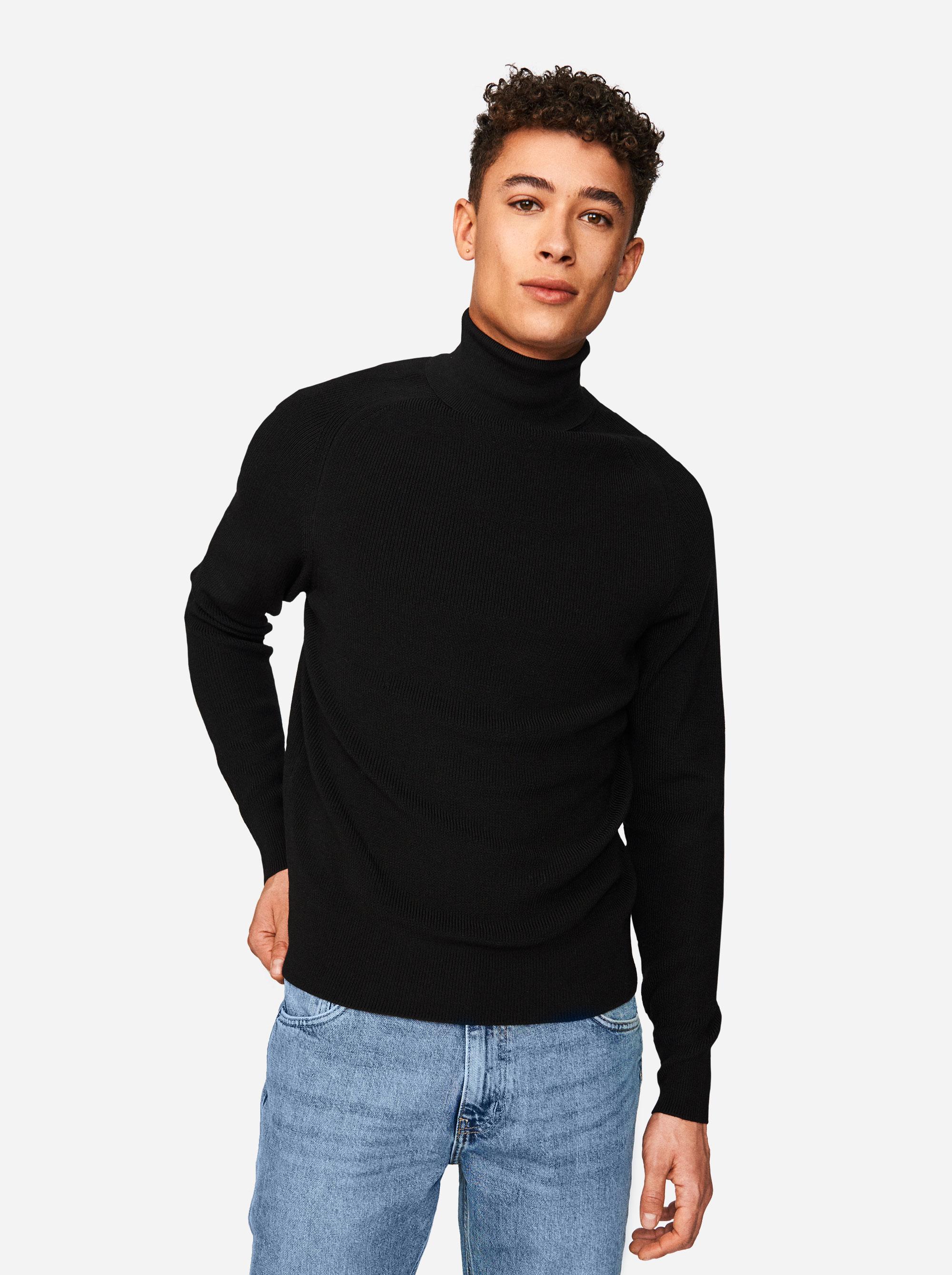 Teym - Turtleneck - The Merino Sweater - Men - Black - 3