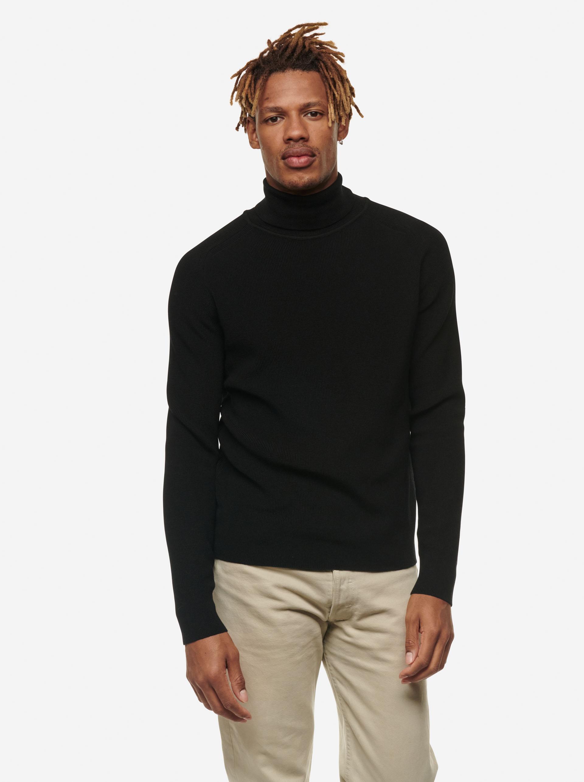 Teym - Turtleneck - The Merino Sweater - Men - Black - 5