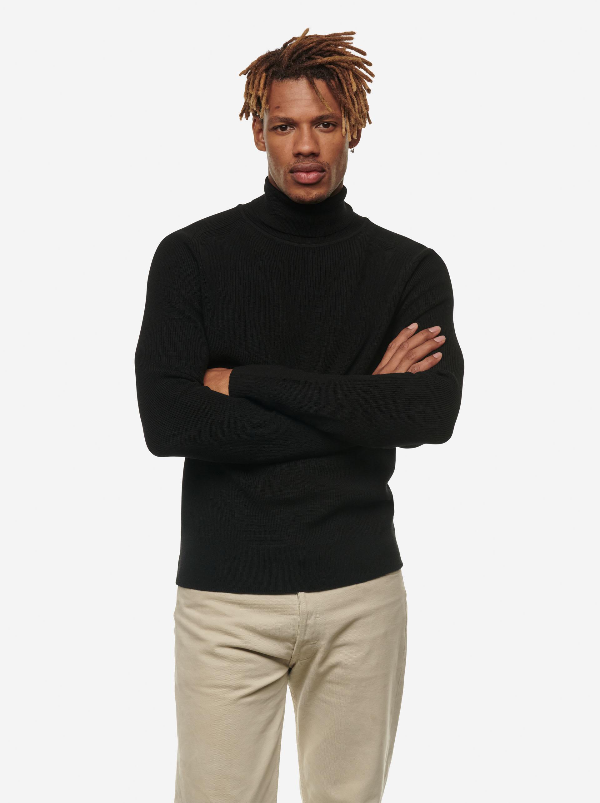 Teym - Turtleneck - The Merino Sweater - Men - Black - 6