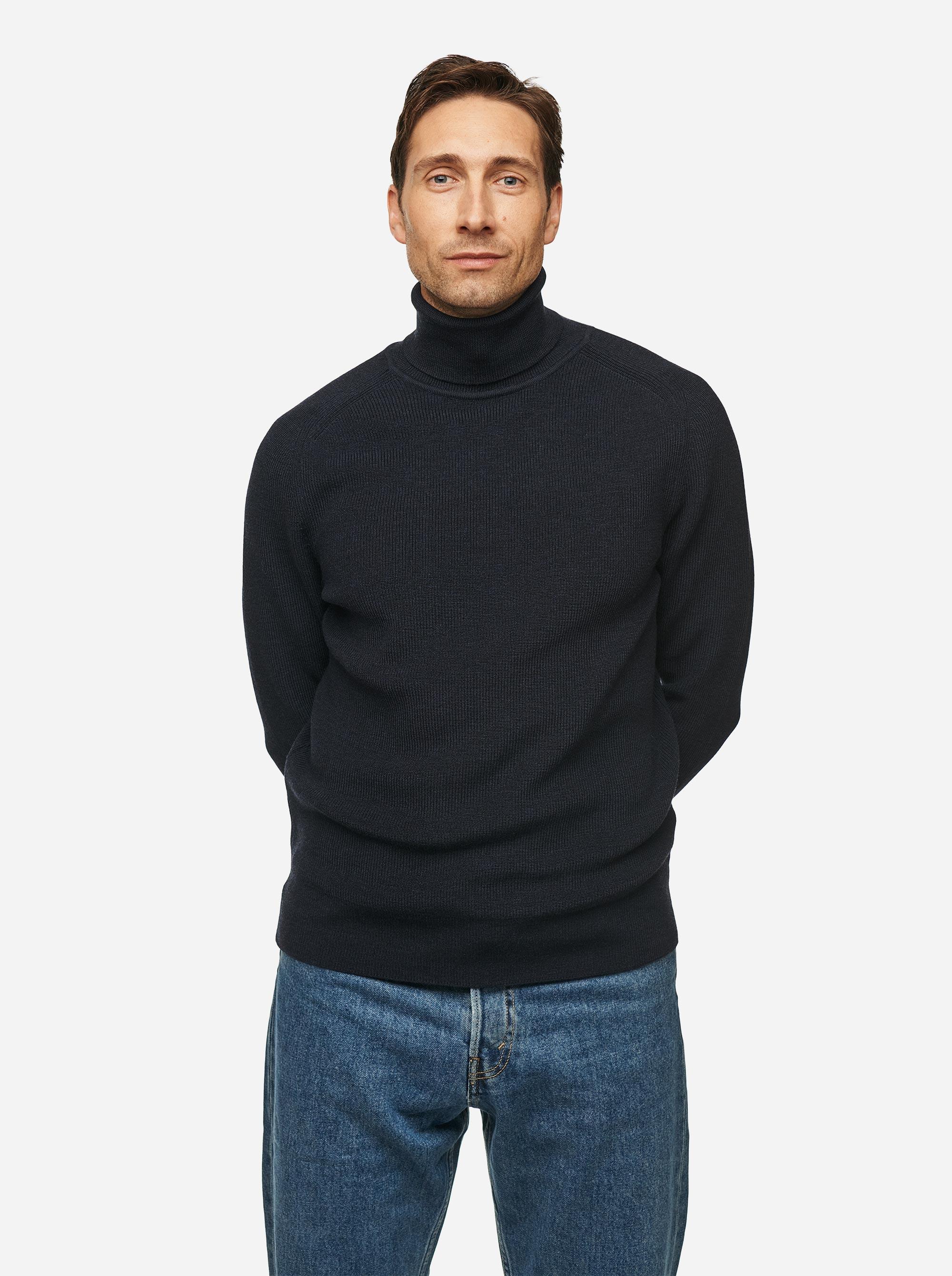 Teym - Turtleneck - The Merino Sweater - Men - Blue - 1