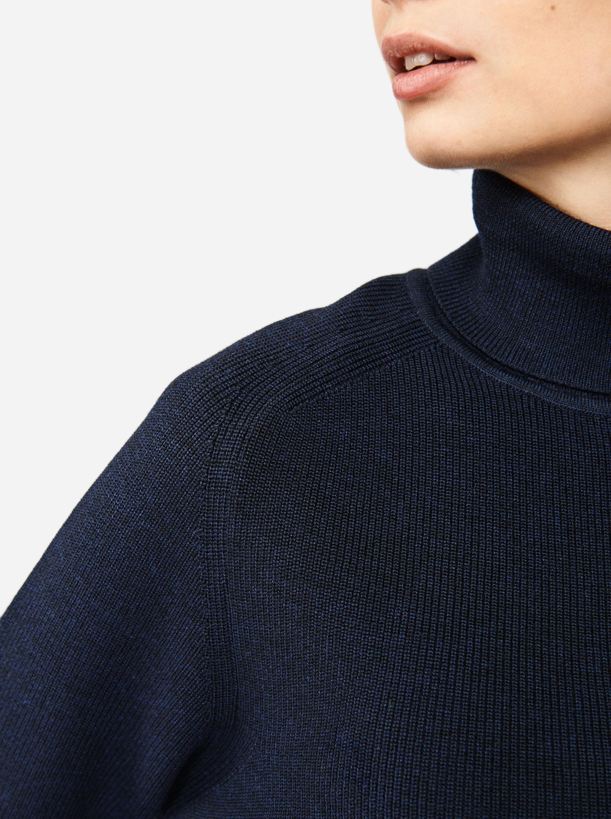 Teym - Turtleneck - The Merino Sweater - Men - Blue - 3
