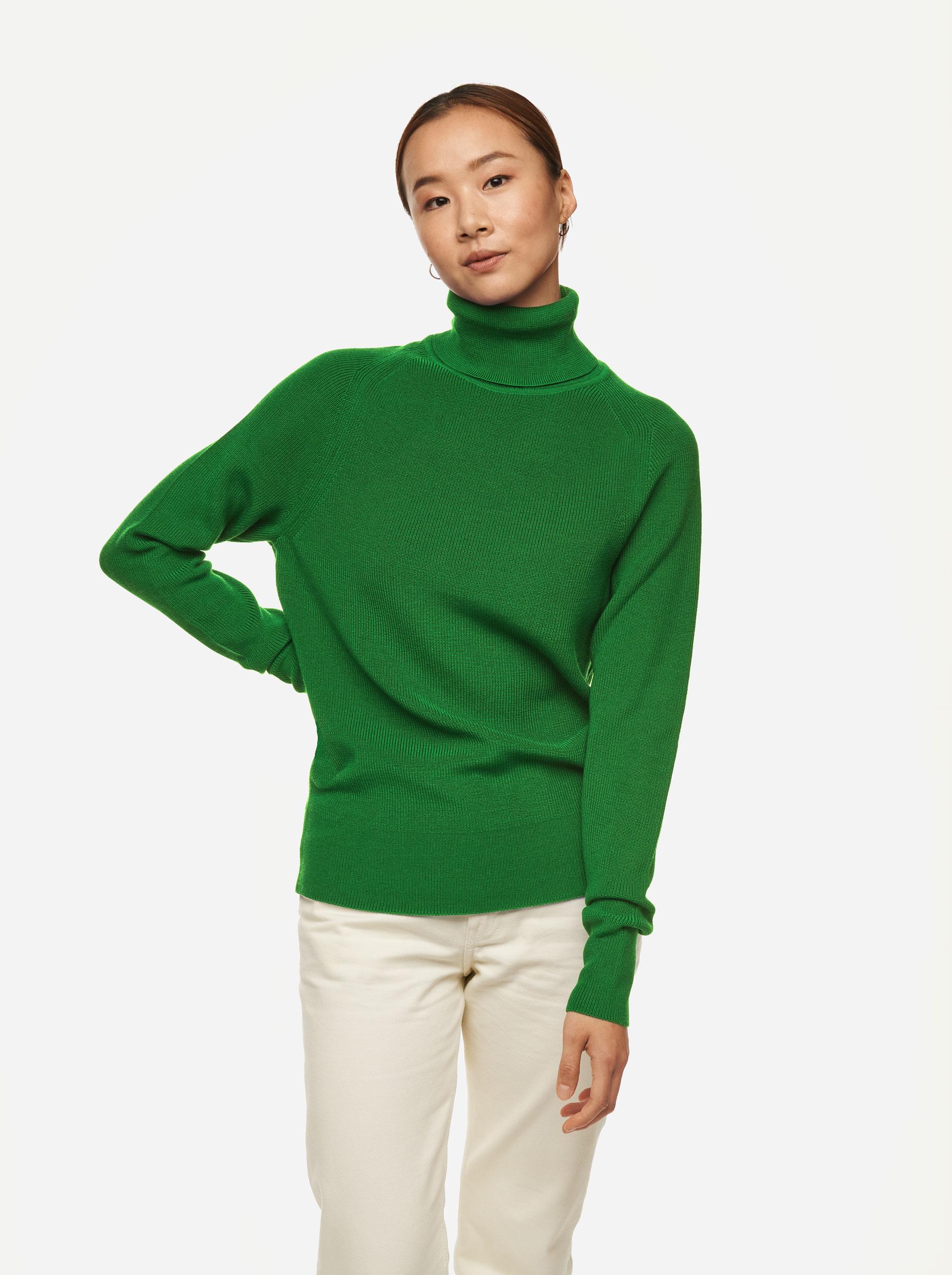 Teym - Turtleneck - The Merino Sweater - Men - Bright Green - 1
