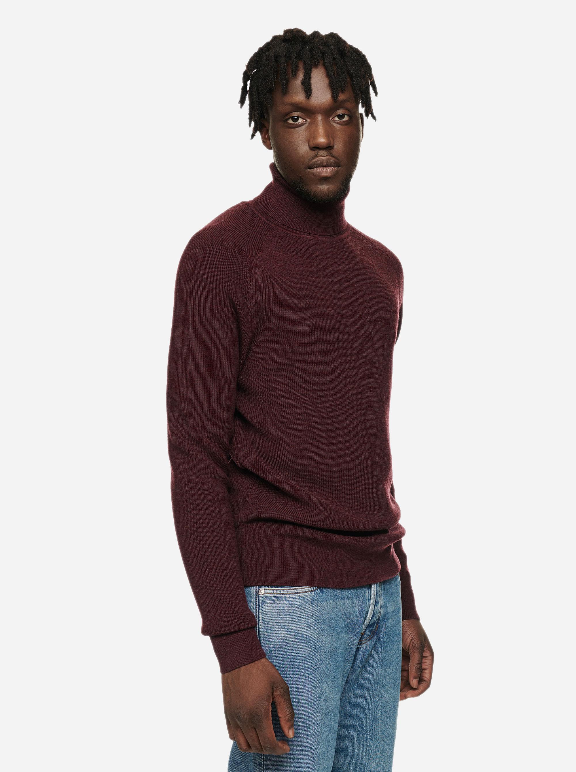 Teym - Turtleneck - The Merino Sweater - Men - Burgundy - 2