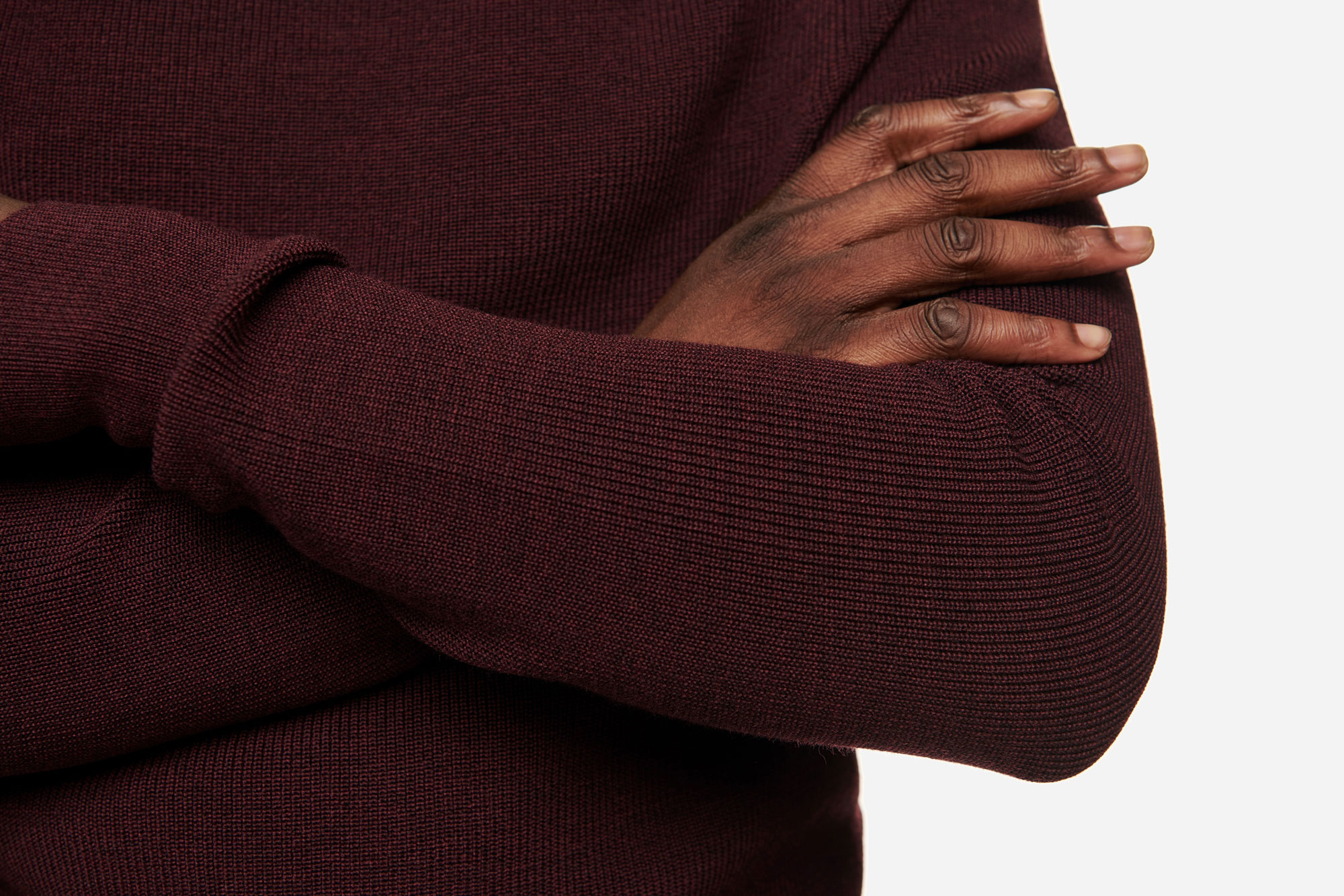 Teym - Turtleneck - The Merino Sweater - Men - Burgundy - 4