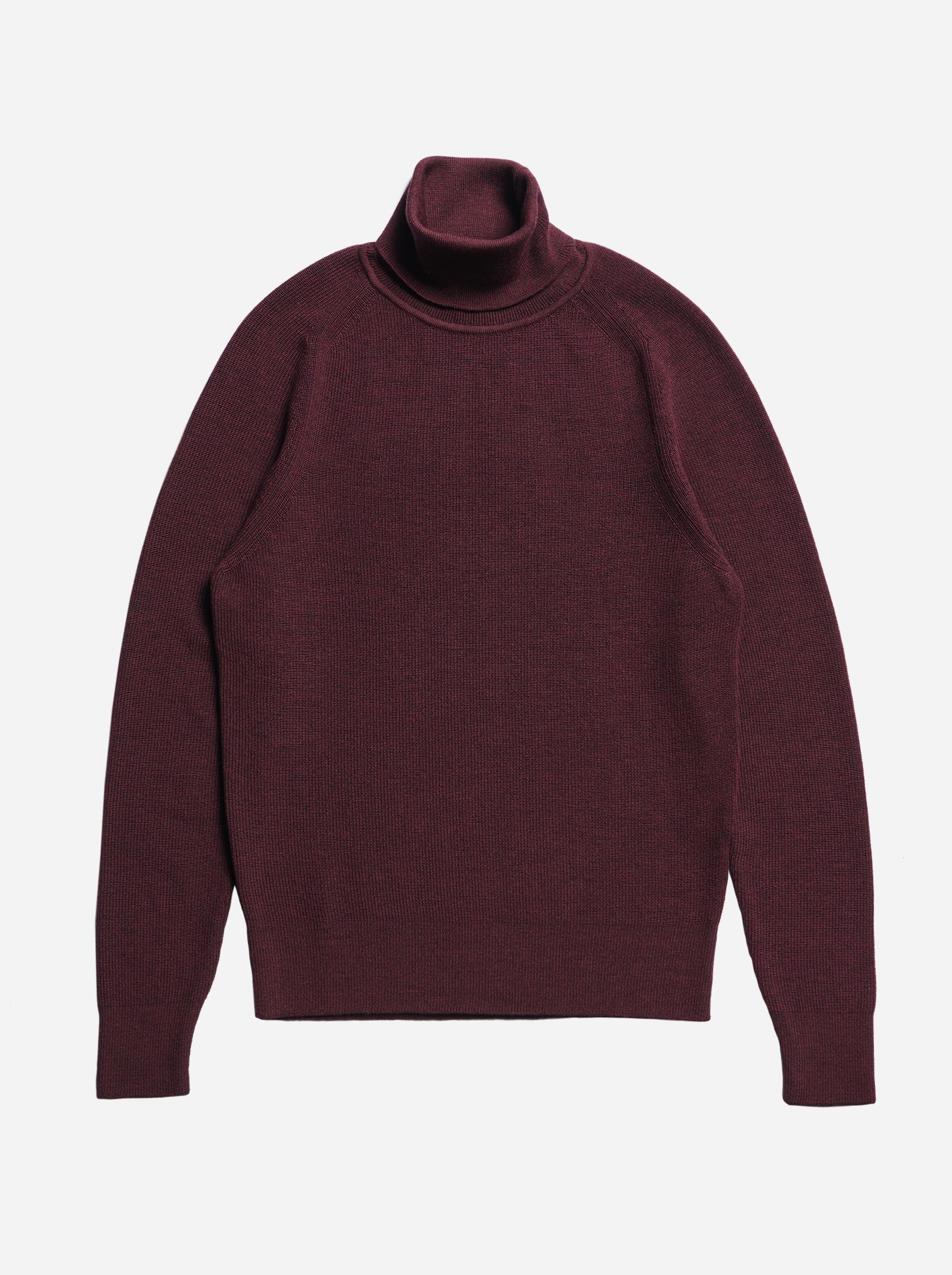 Teym - Turtleneck - The Merino Sweater - Men - Burgundy - 5
