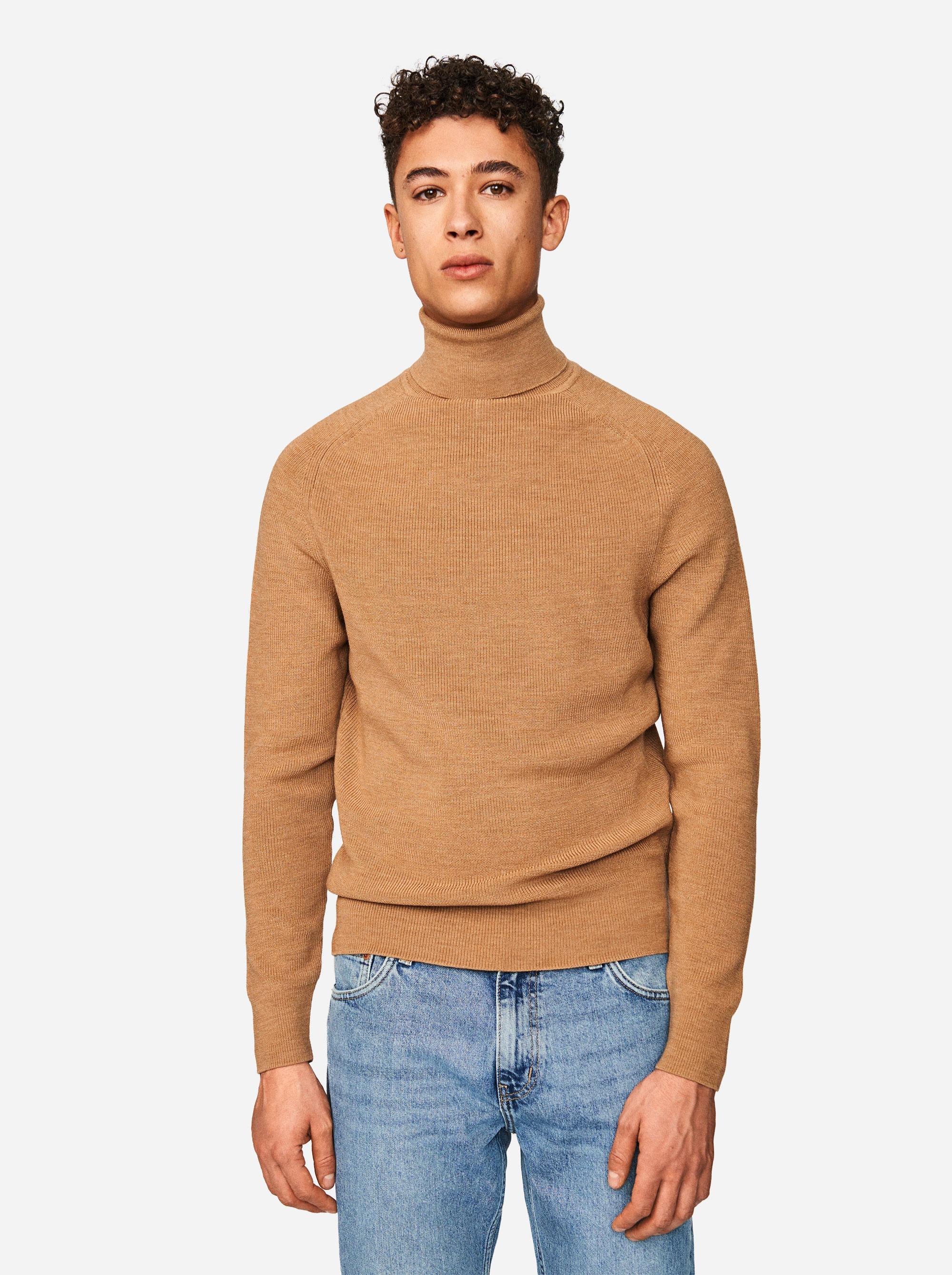 Teym - Turtleneck - The Merino Sweater - Men - Camel - 1