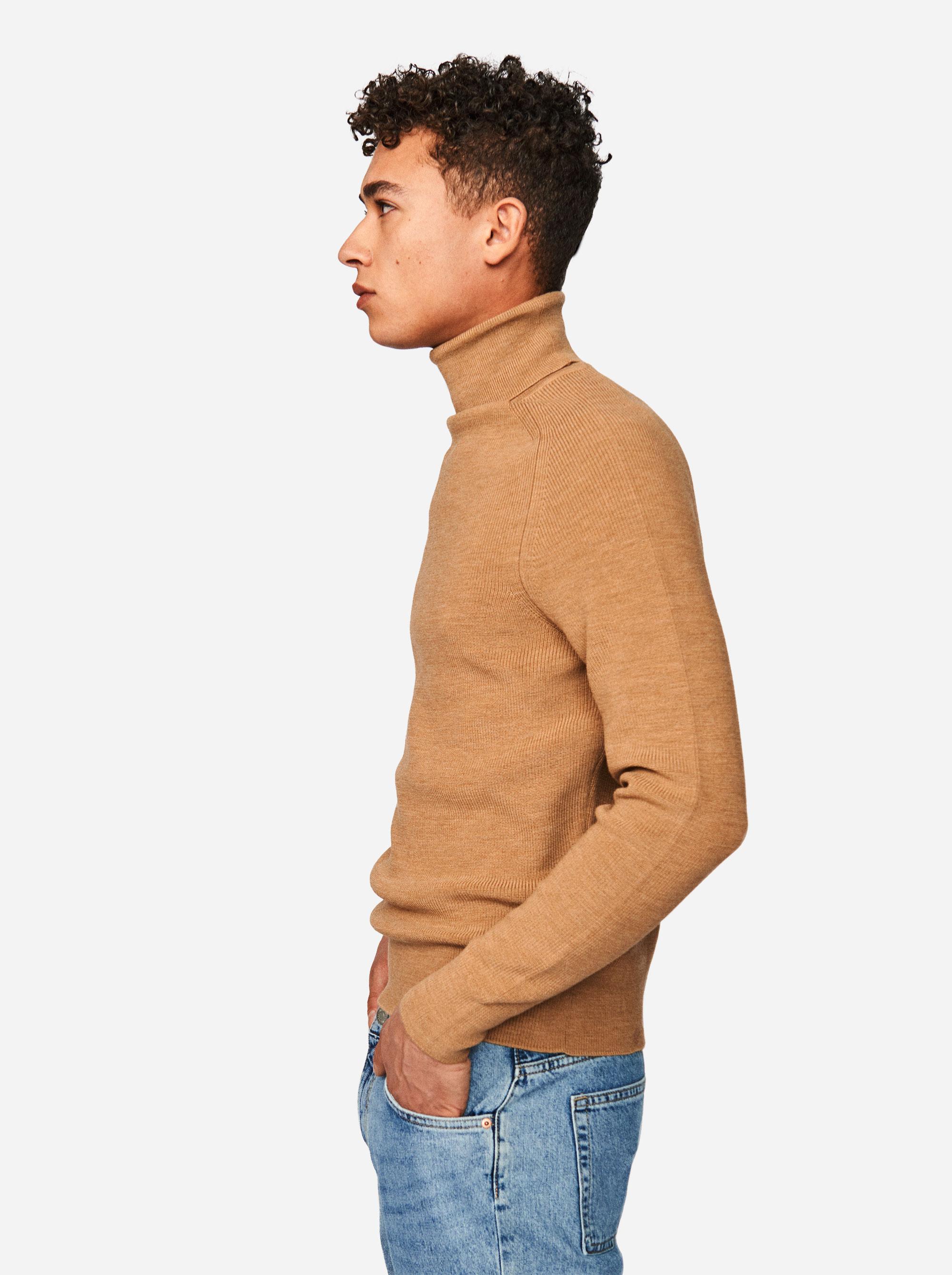 Teym - Turtleneck - The Merino Sweater - Men - Camel - 2