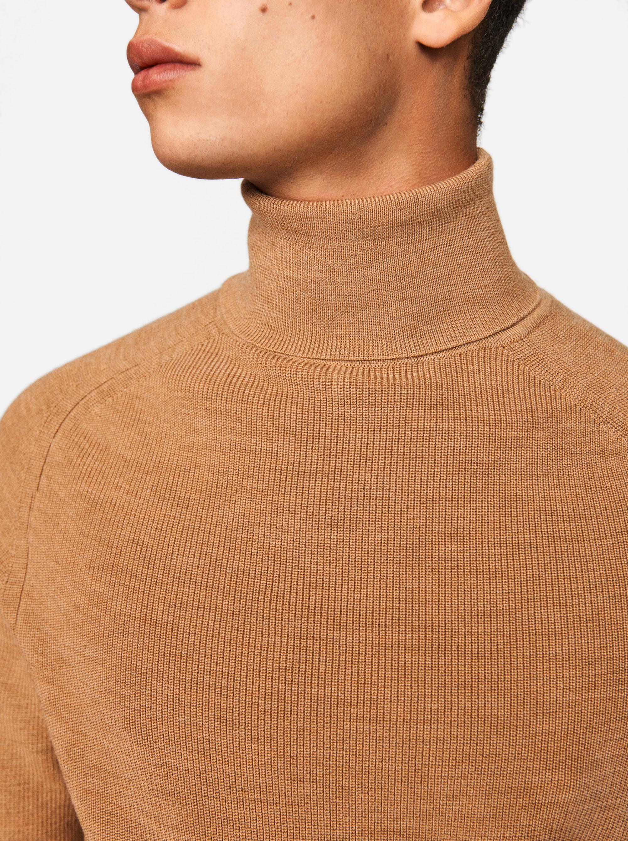 Teym - Turtleneck - The Merino Sweater - Men - Camel - 3