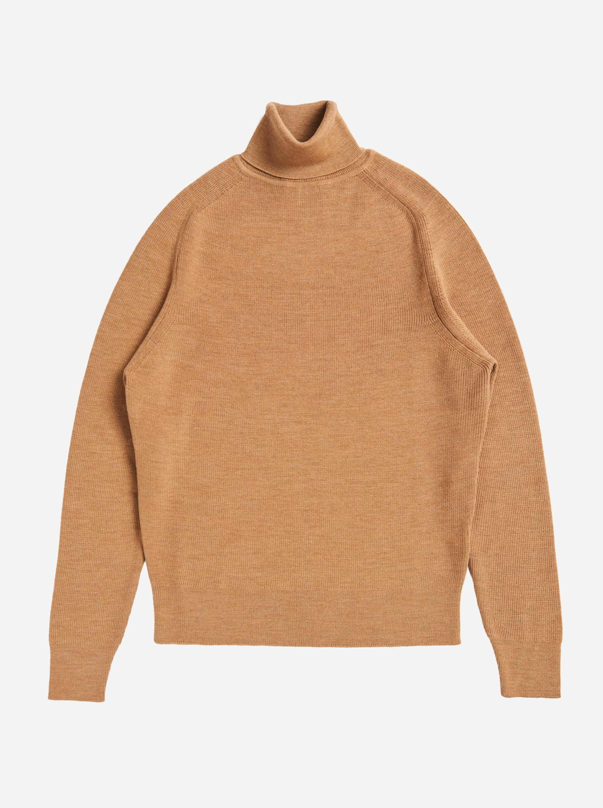 Teym - Turtleneck - The Merino Sweater - Men - Camel - 4