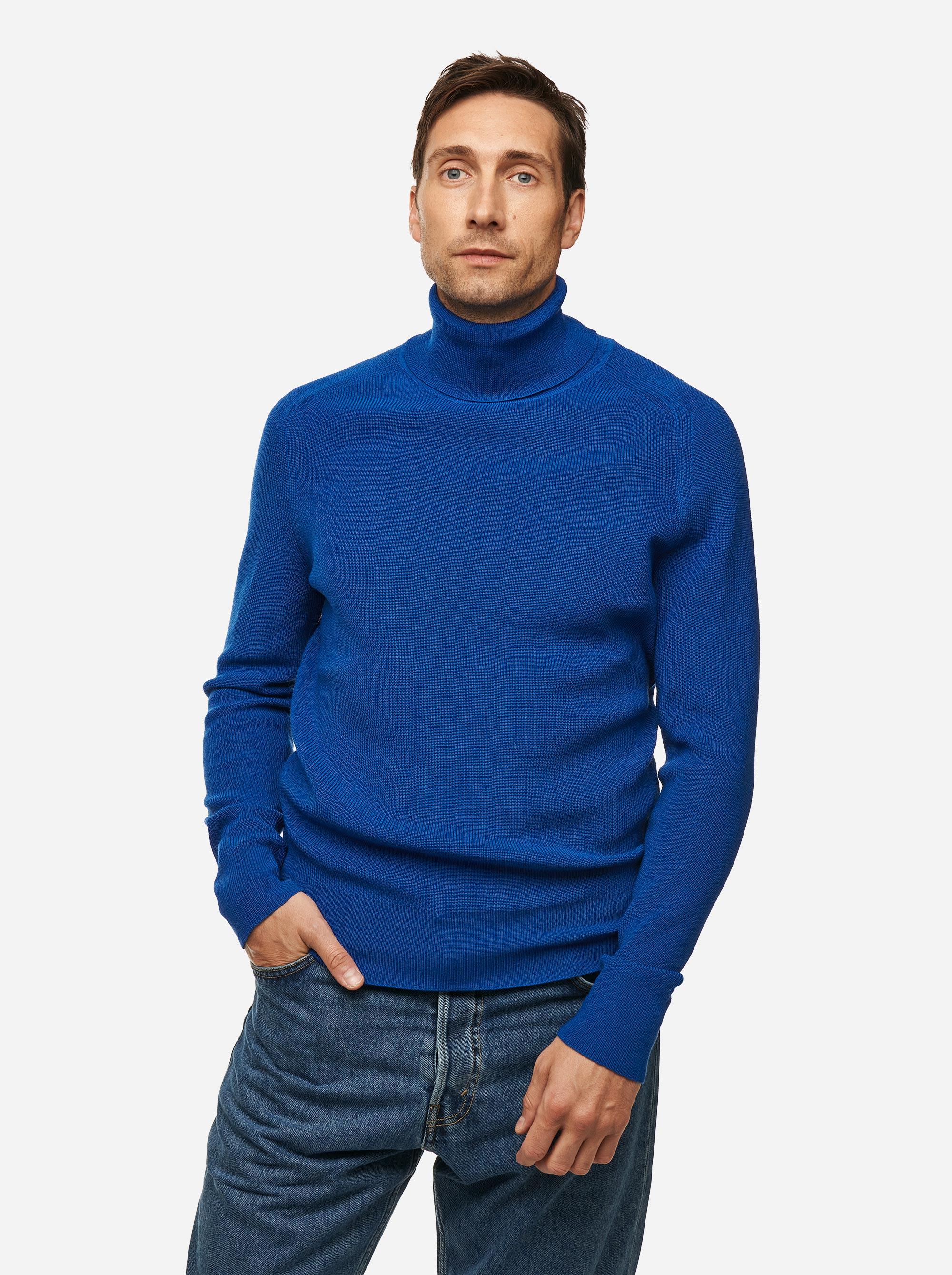 Teym - Turtleneck - The Merino Sweater - Men - Cobalt blue - 1