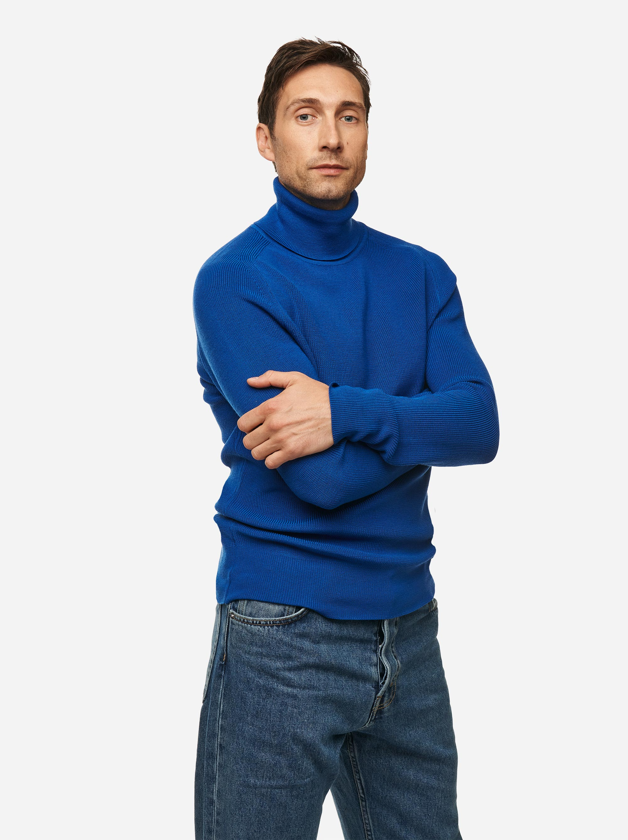 Teym - Turtleneck - The Merino Sweater - Men - Cobalt blue - 2