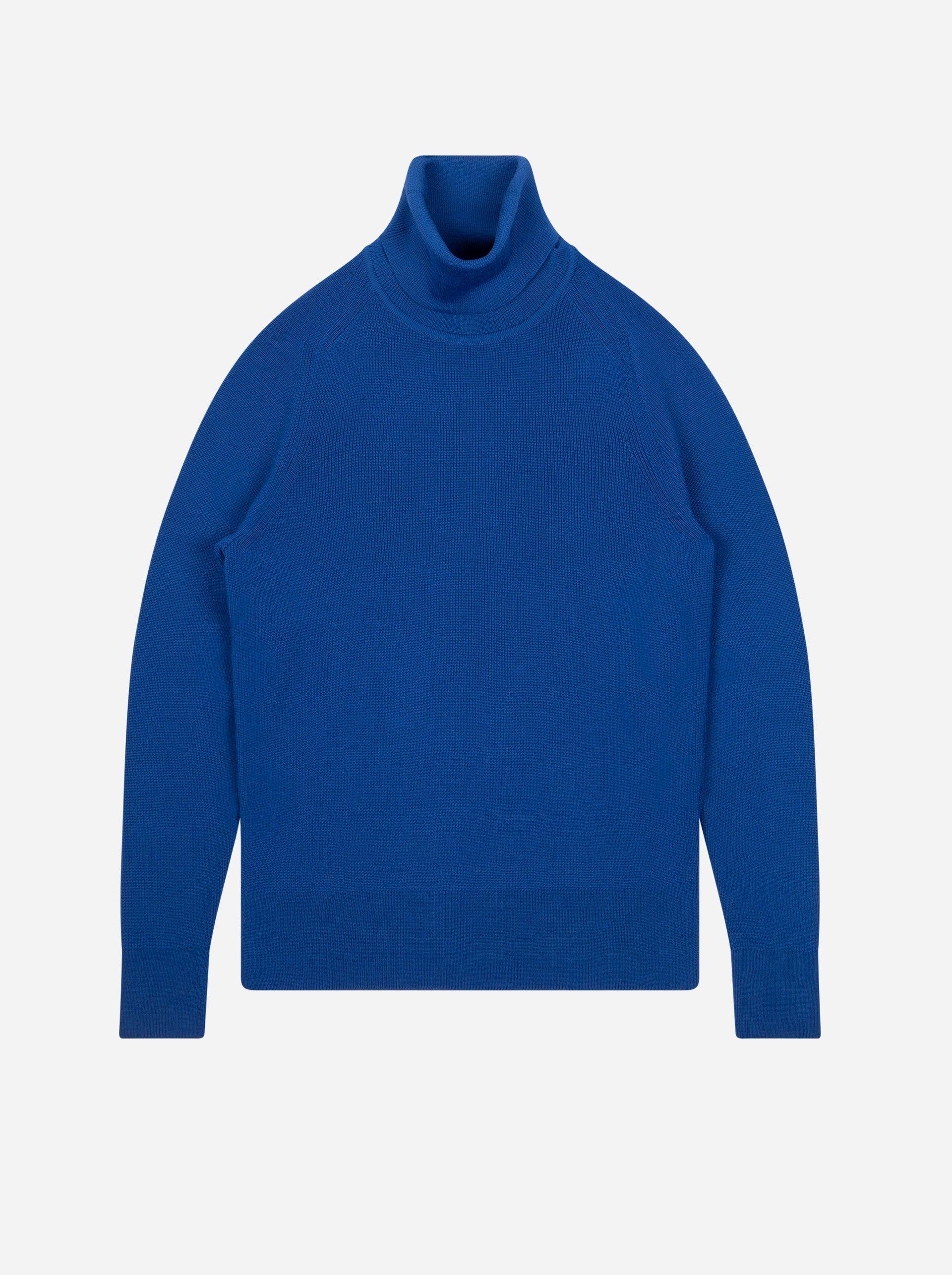 Teym - Turtleneck - The Merino Sweater - Men - Cobalt blue - 4