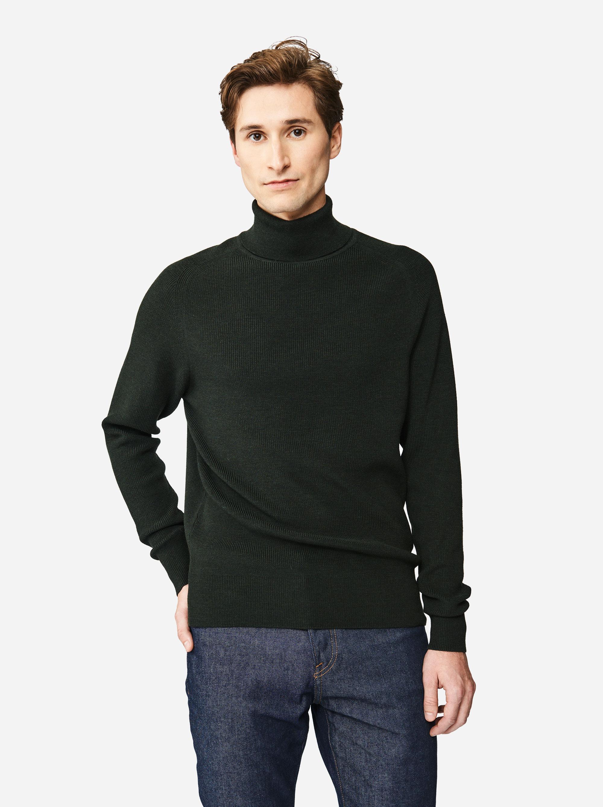 Teym - Turtleneck - The Merino Sweater - Men - Green - 3