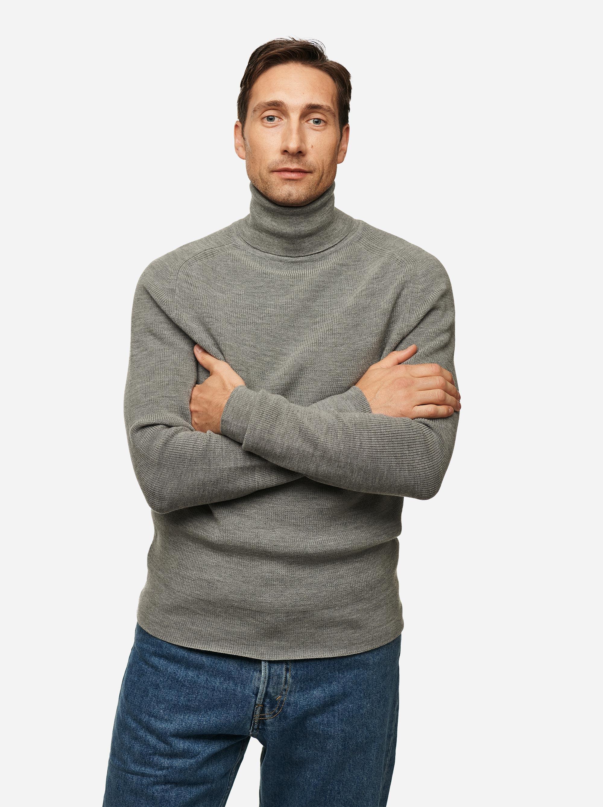 Teym - Turtleneck - The Merino Sweater - Men - Grey - 3