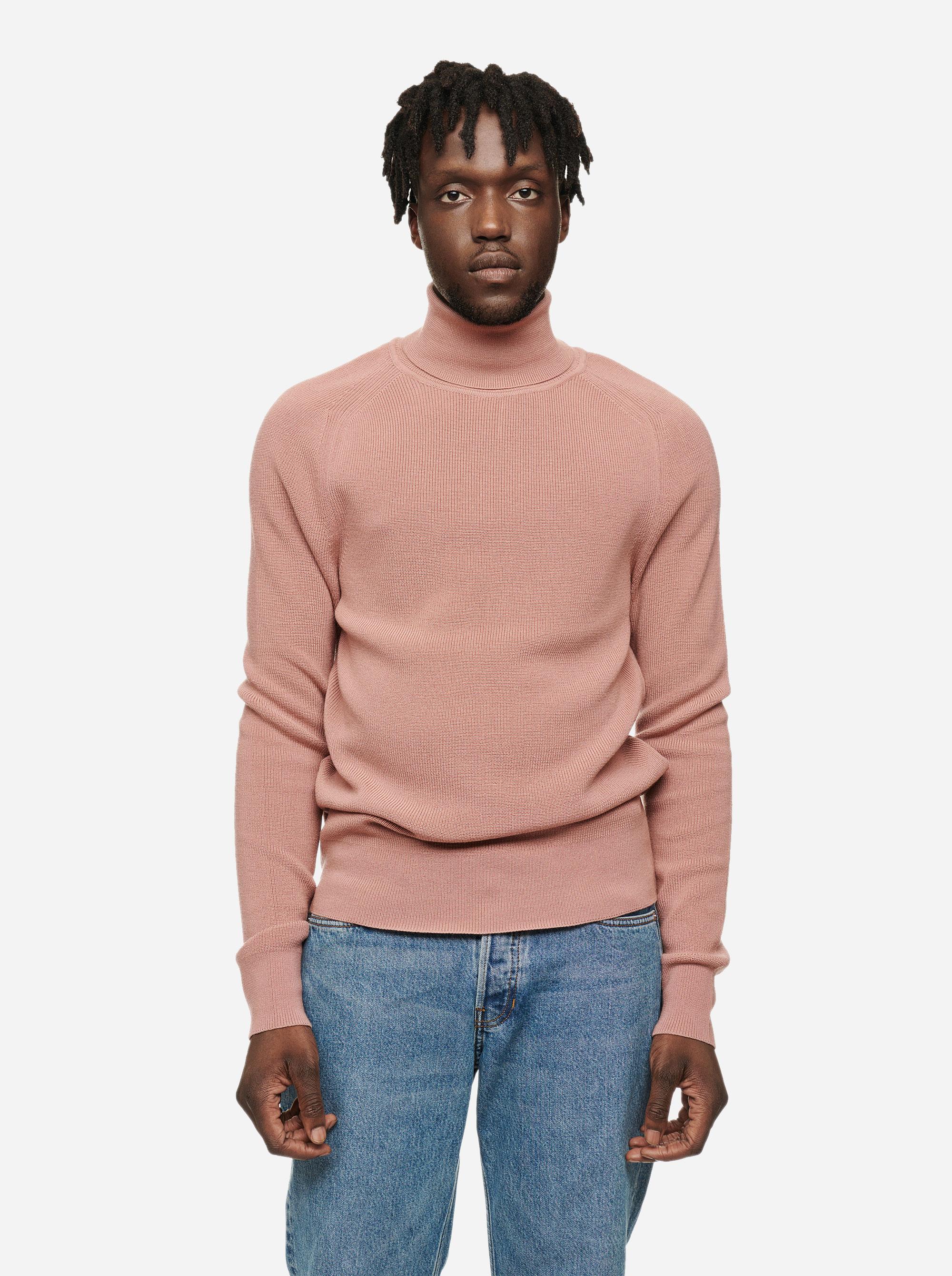 Teym - Turtleneck - The Merino Sweater - Men - Pink - 1