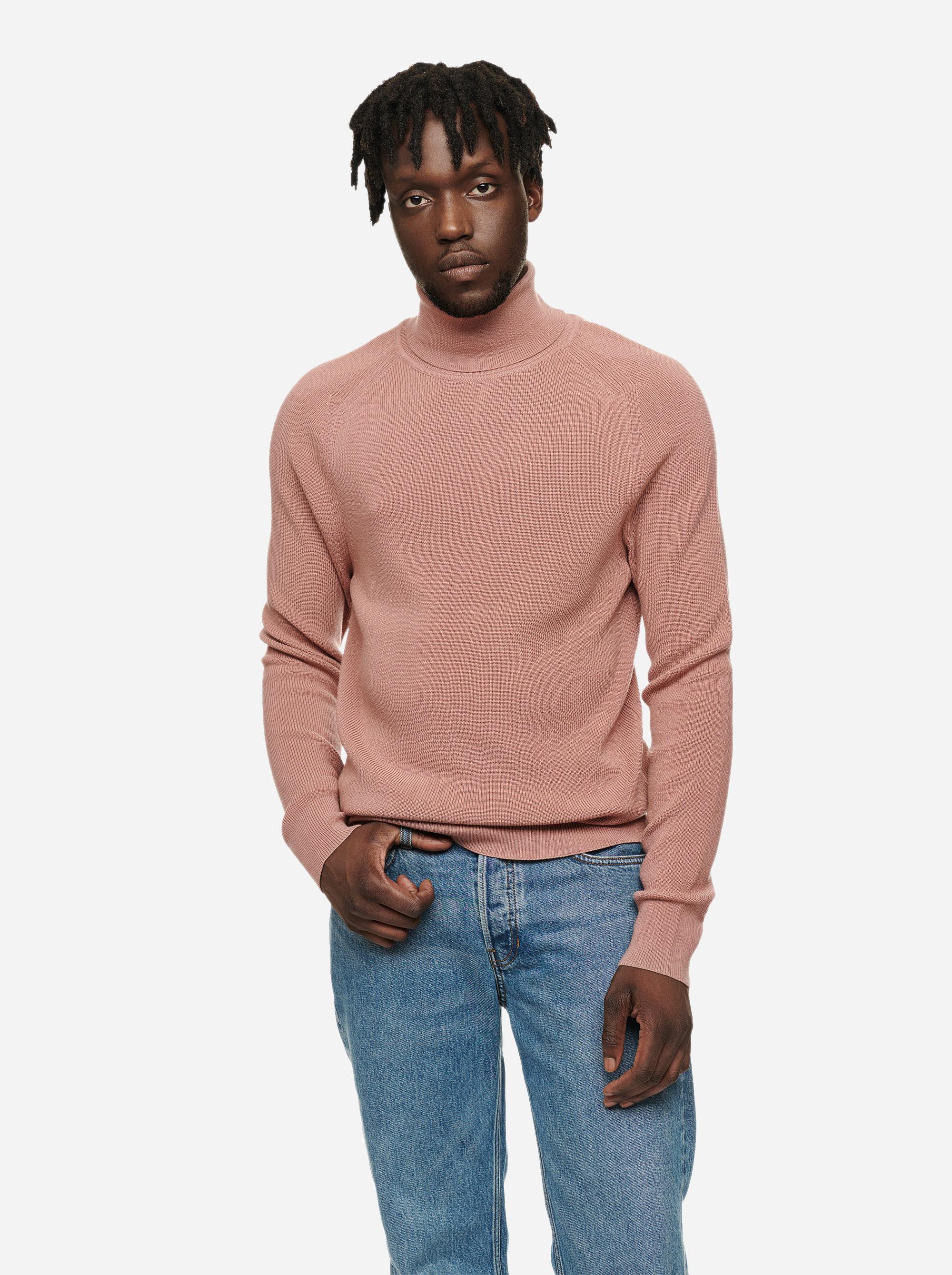 Teym - Turtleneck - The Merino Sweater - Men - Pink - 2