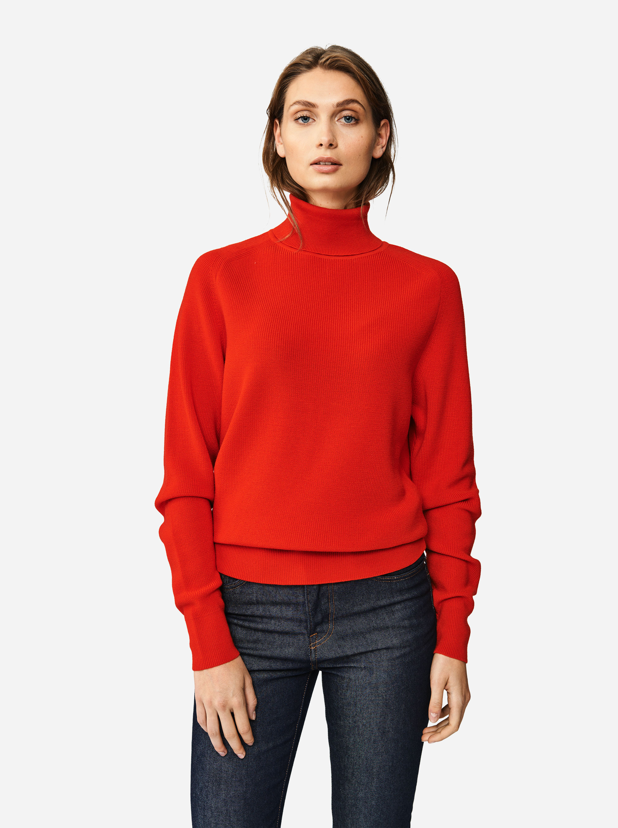 Teym - Turtleneck - The Merino Sweater - Men - Red - 3
