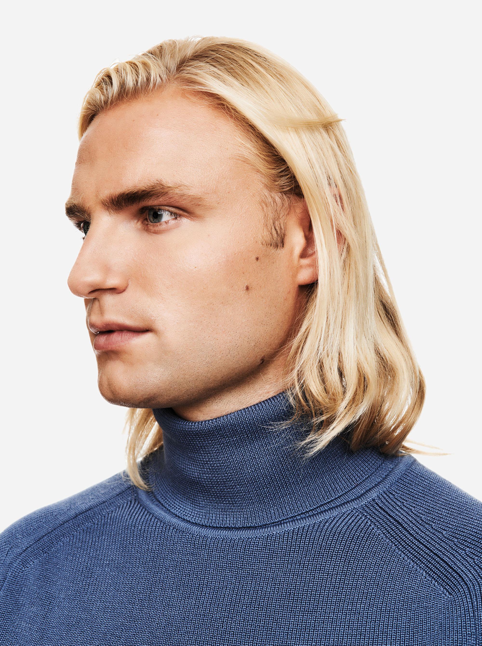 Teym - Turtleneck - The Merino Sweater - Men - Sky Blue - 3