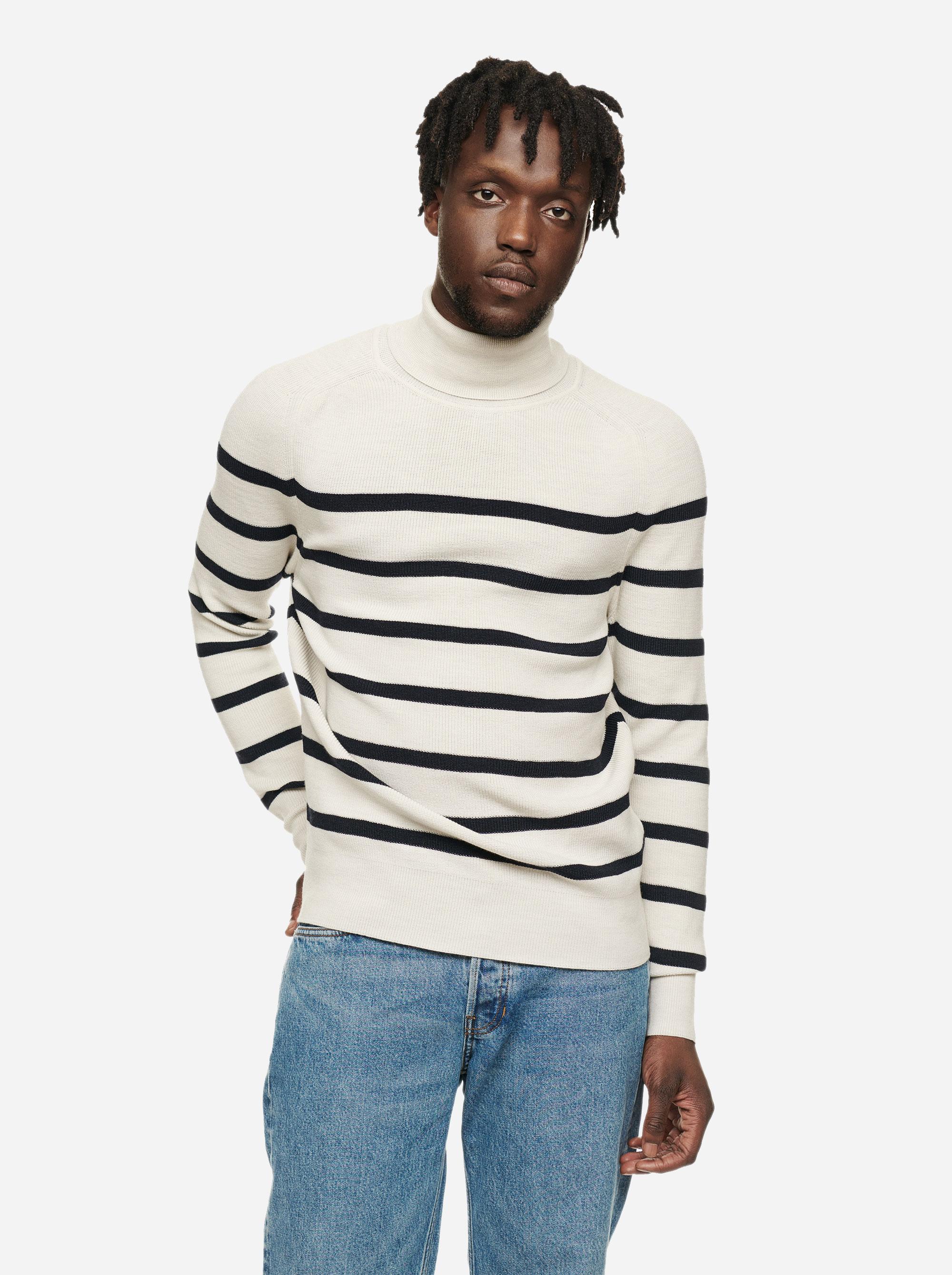 Teym - Turtleneck - The Merino Sweater - Men - Striped - 2