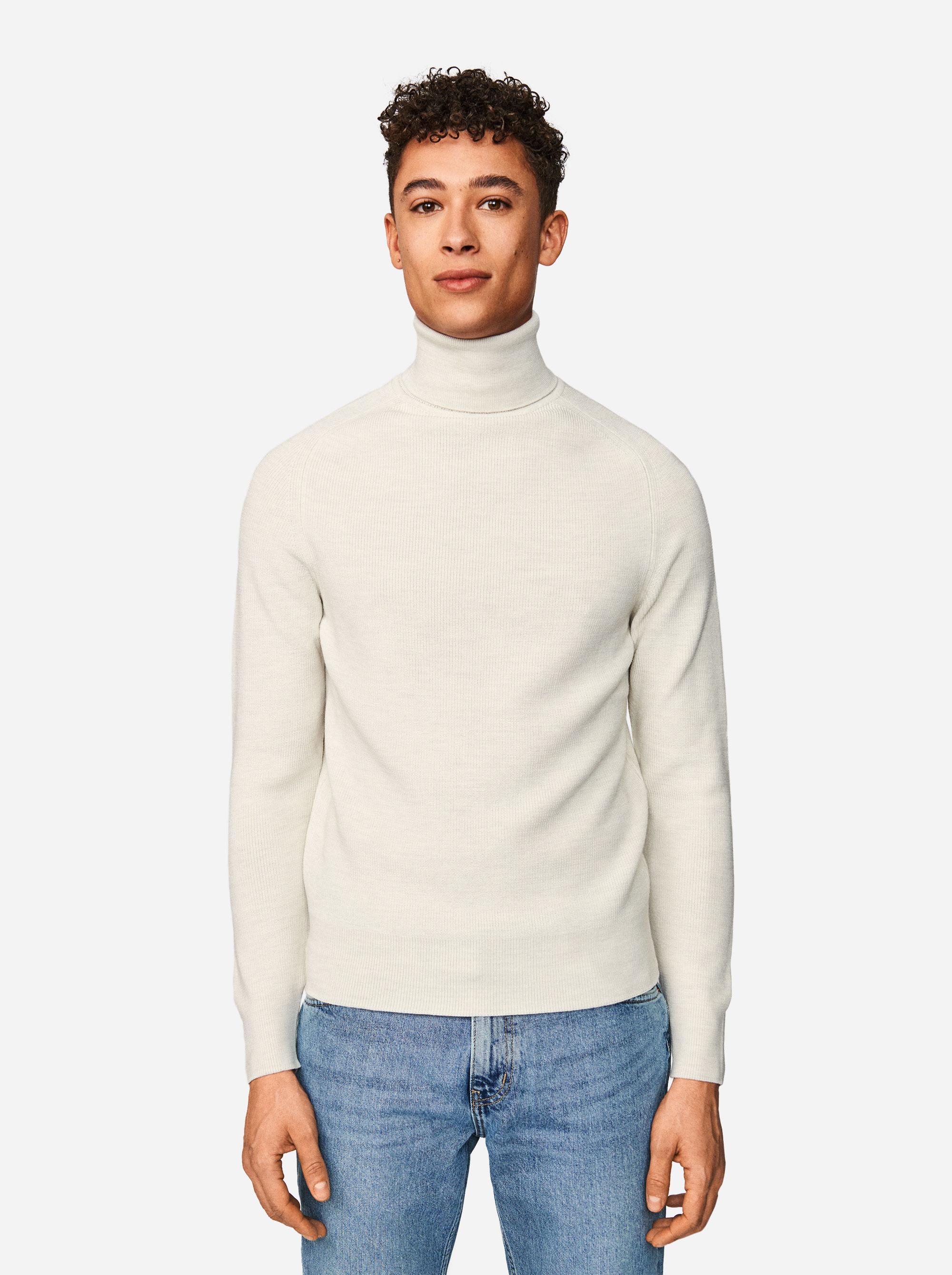 Teym - Turtleneck - The Merino Sweater - Men - White - 1
