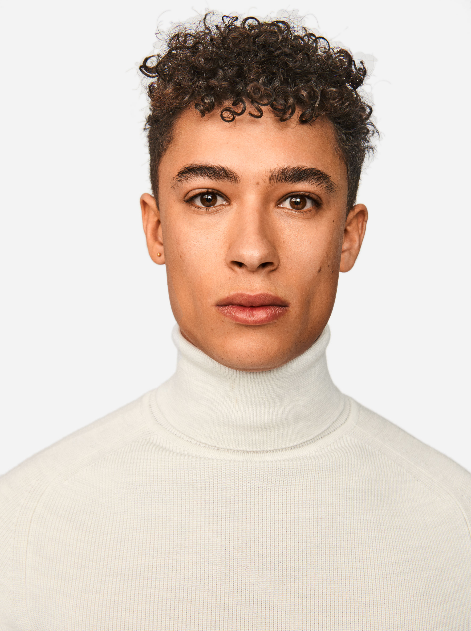 Teym - Turtleneck - The Merino Sweater - Men - White - 5