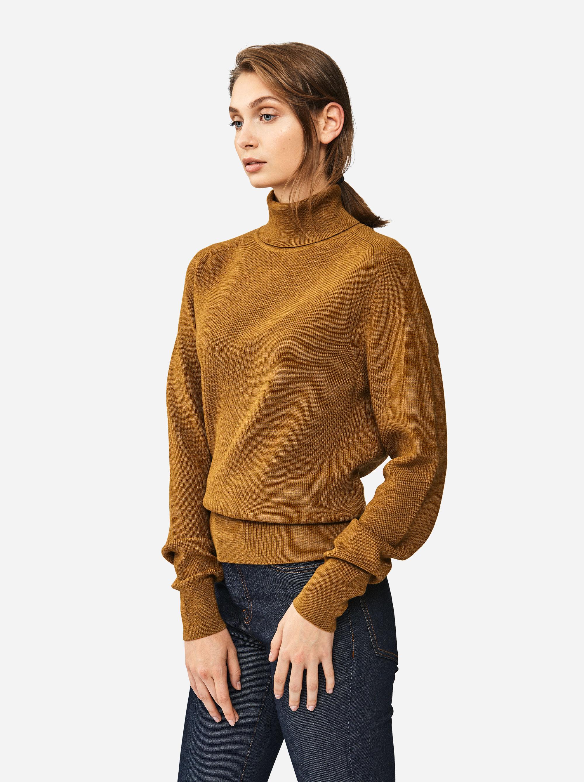 Teym - Turtleneck - The Merino Sweater - Women - Camel - 1