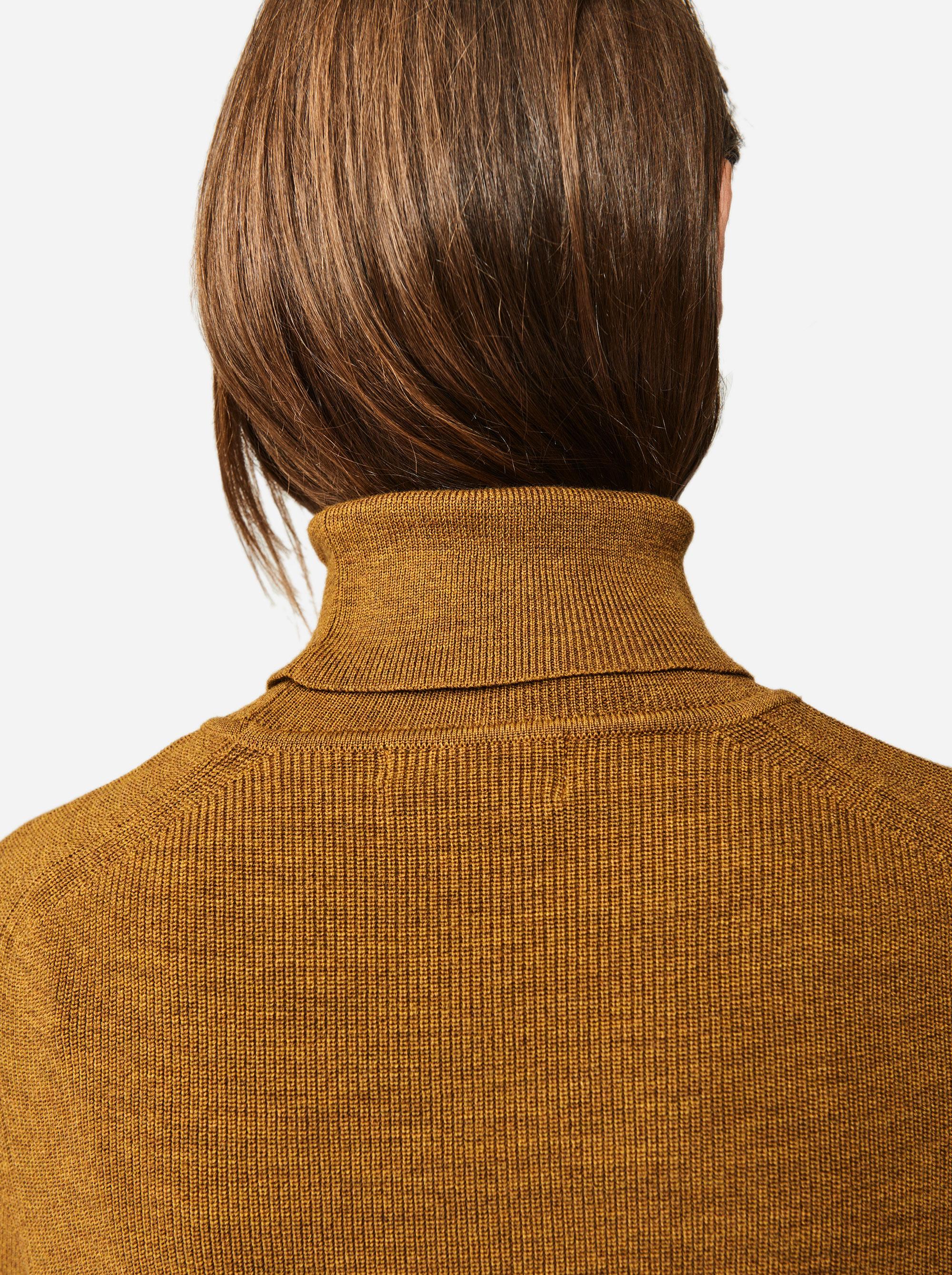 Teym - Turtleneck - The Merino Sweater - Women - Camel - 2