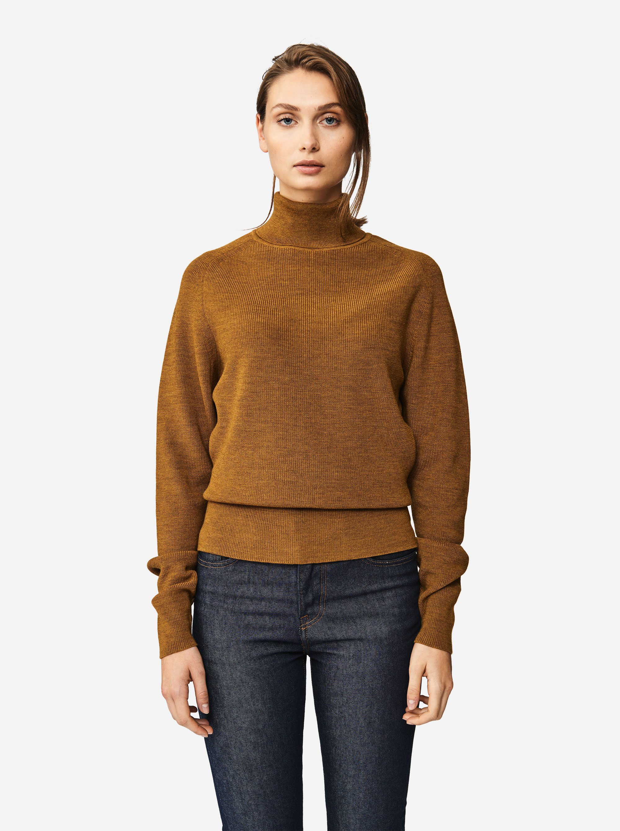 Teym - Turtleneck - The Merino Sweater - Women - Camel - 3