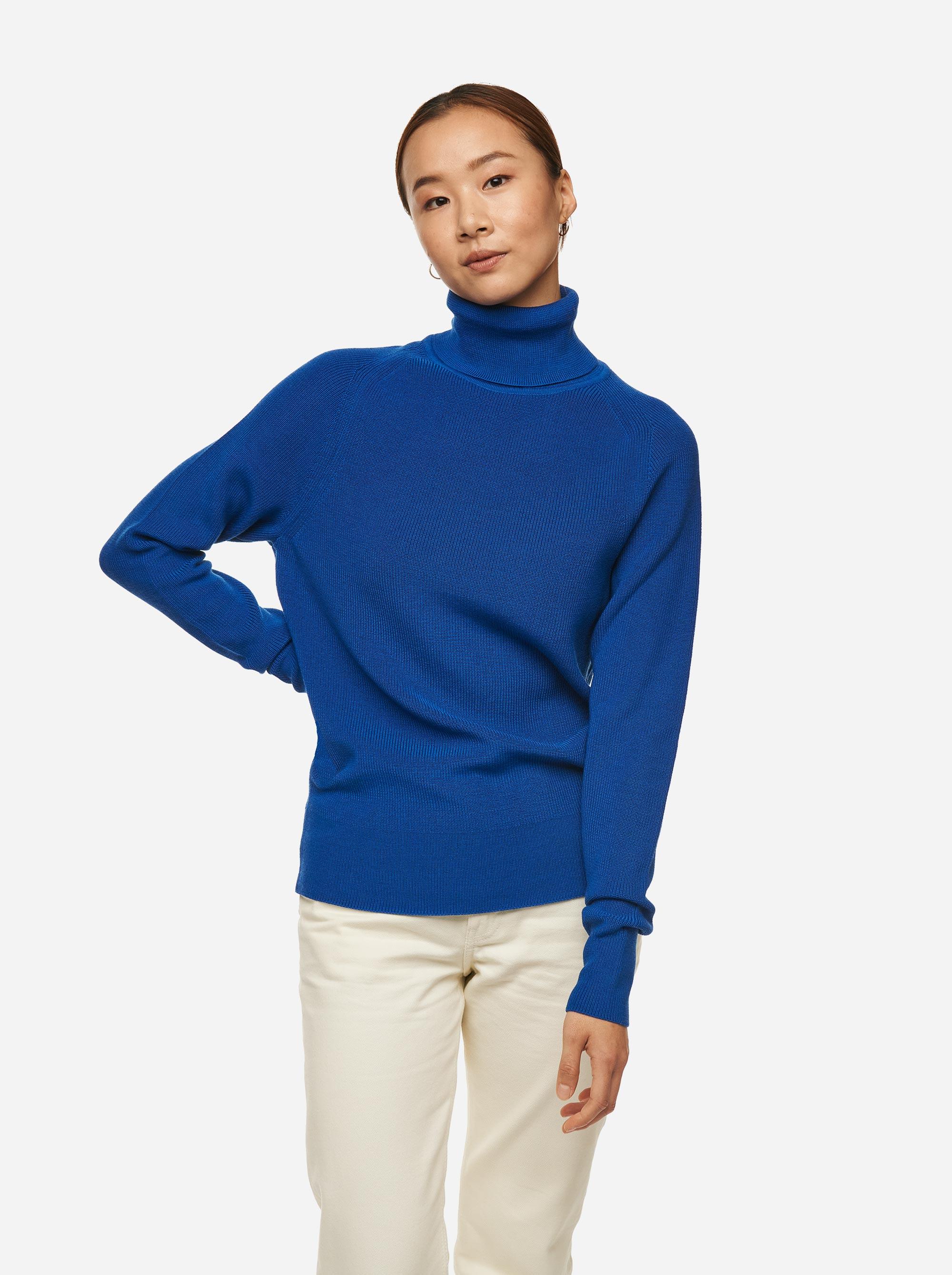 Teym - Turtleneck - The Merino Sweater - Women - Cobalt - 1