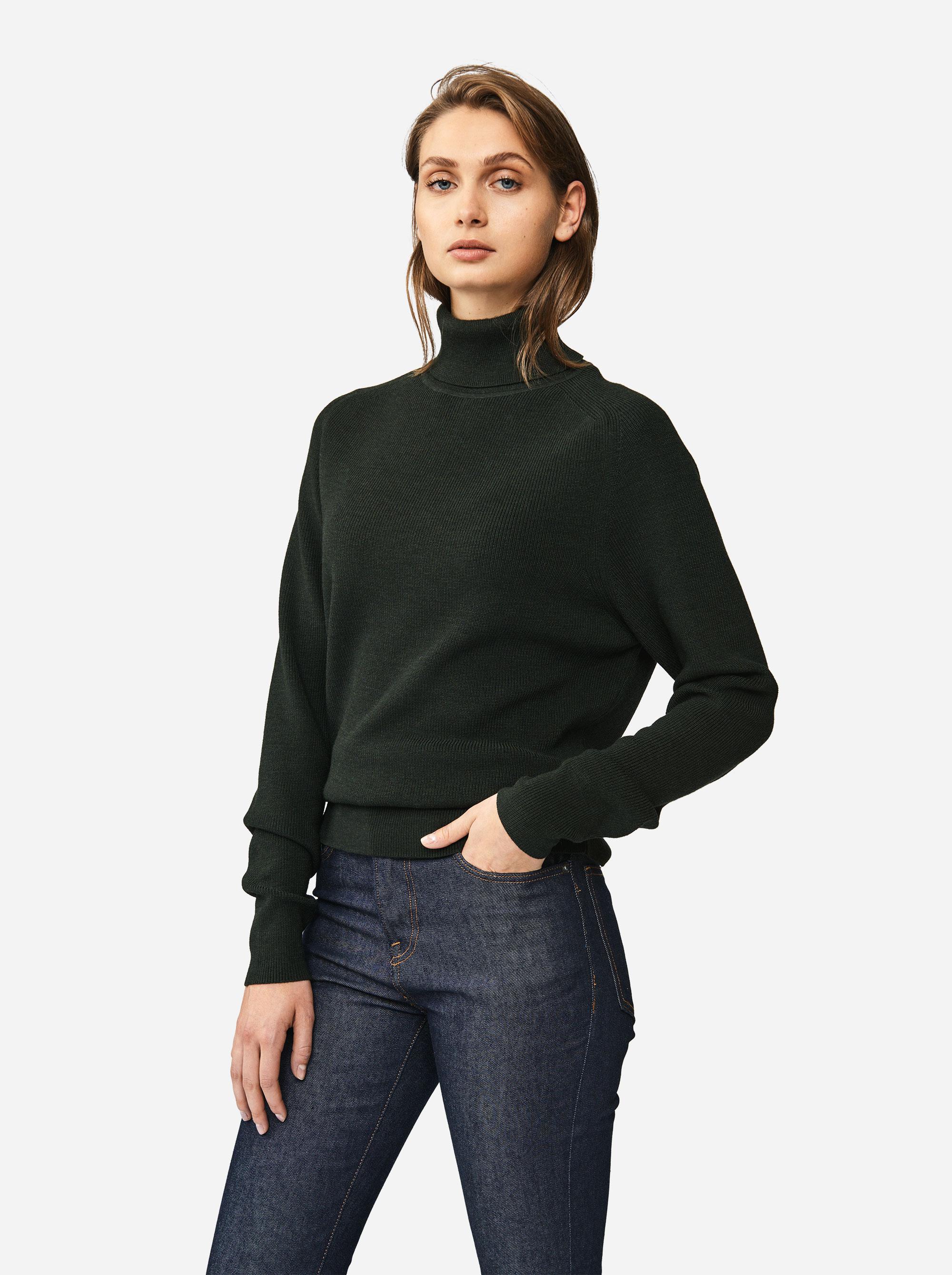 Teym - Turtleneck - The Merino Sweater - Women - Green - 1