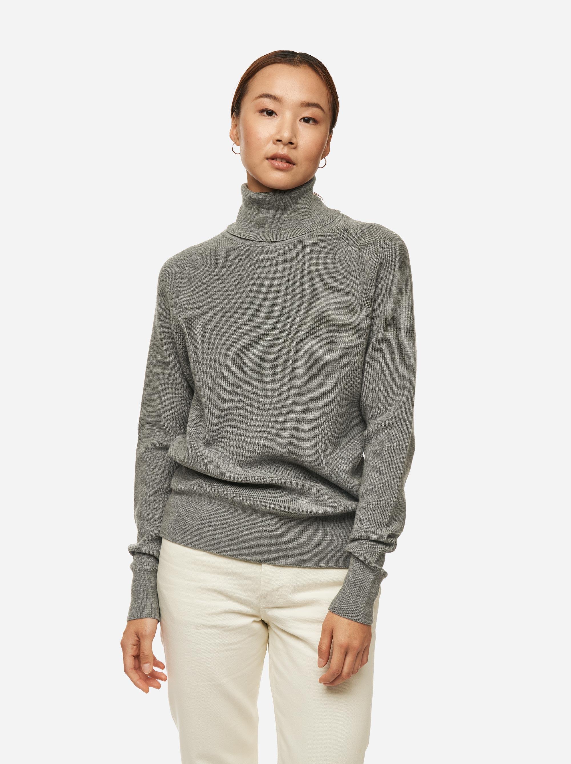 Teym - Turtleneck - The Merino Sweater - Women - Grey - 2