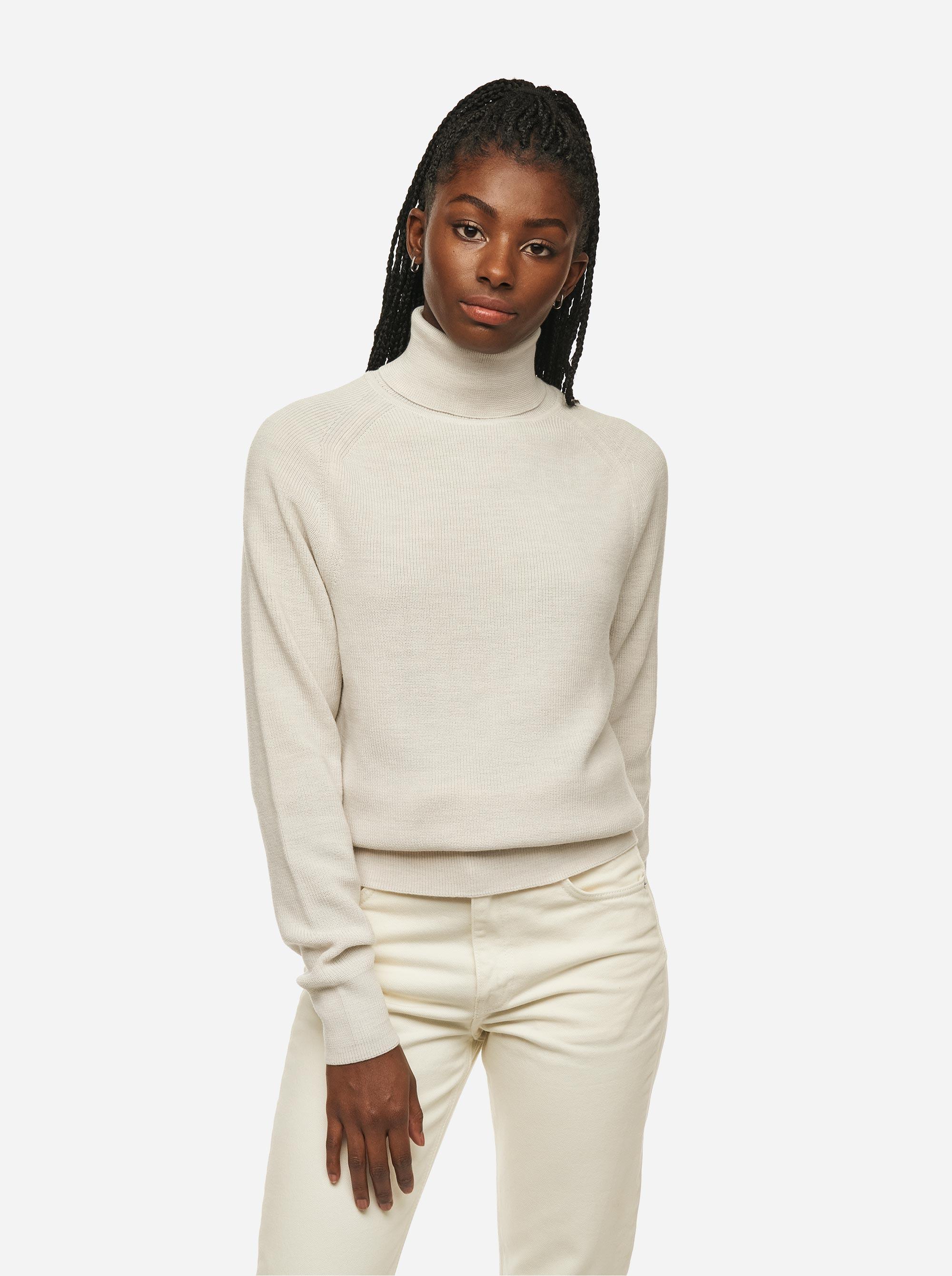 Teym - Turtleneck - The Merino Sweater - Women - White - 1