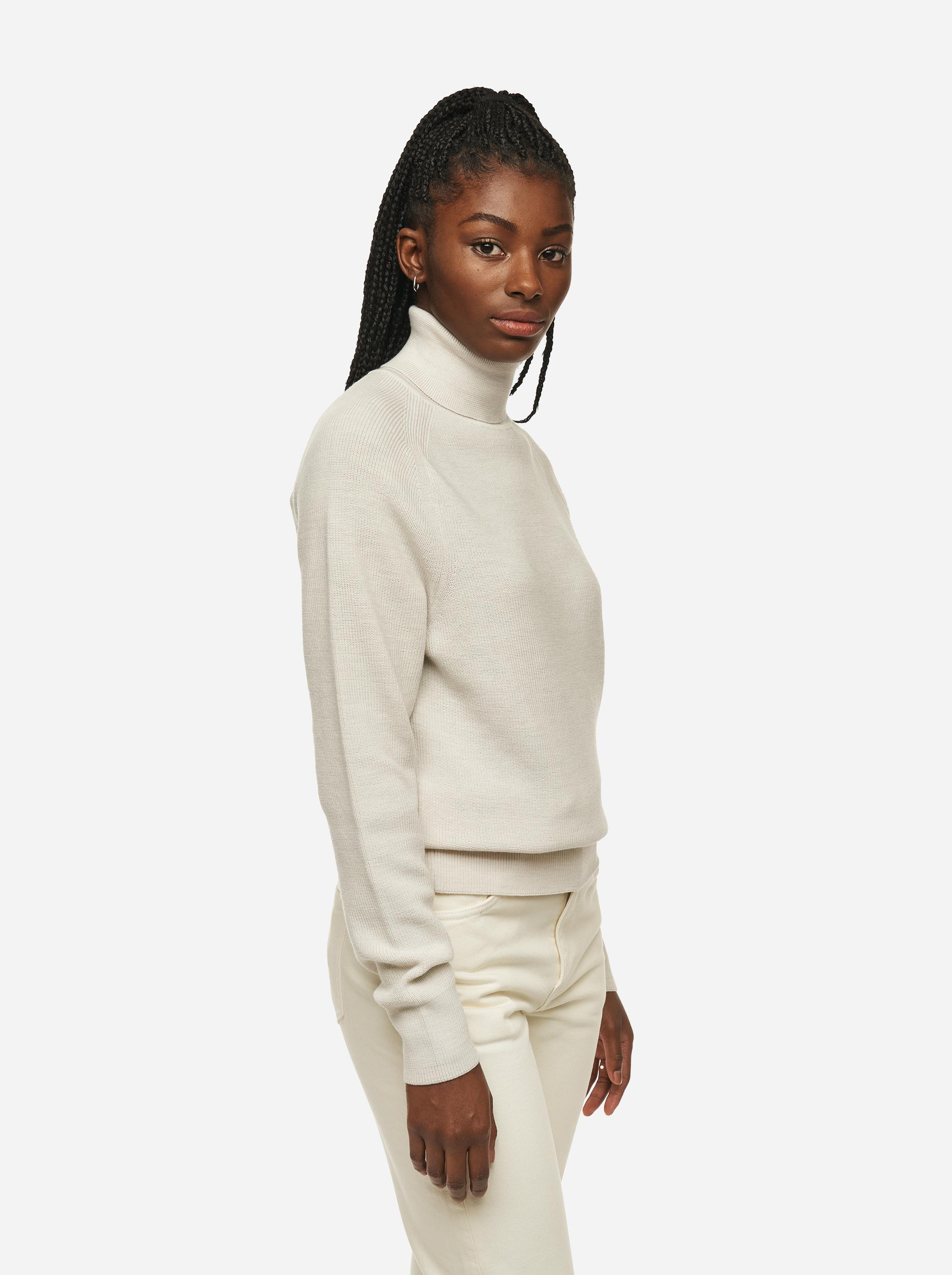 Teym - Turtleneck - The Merino Sweater - Women - White - 2