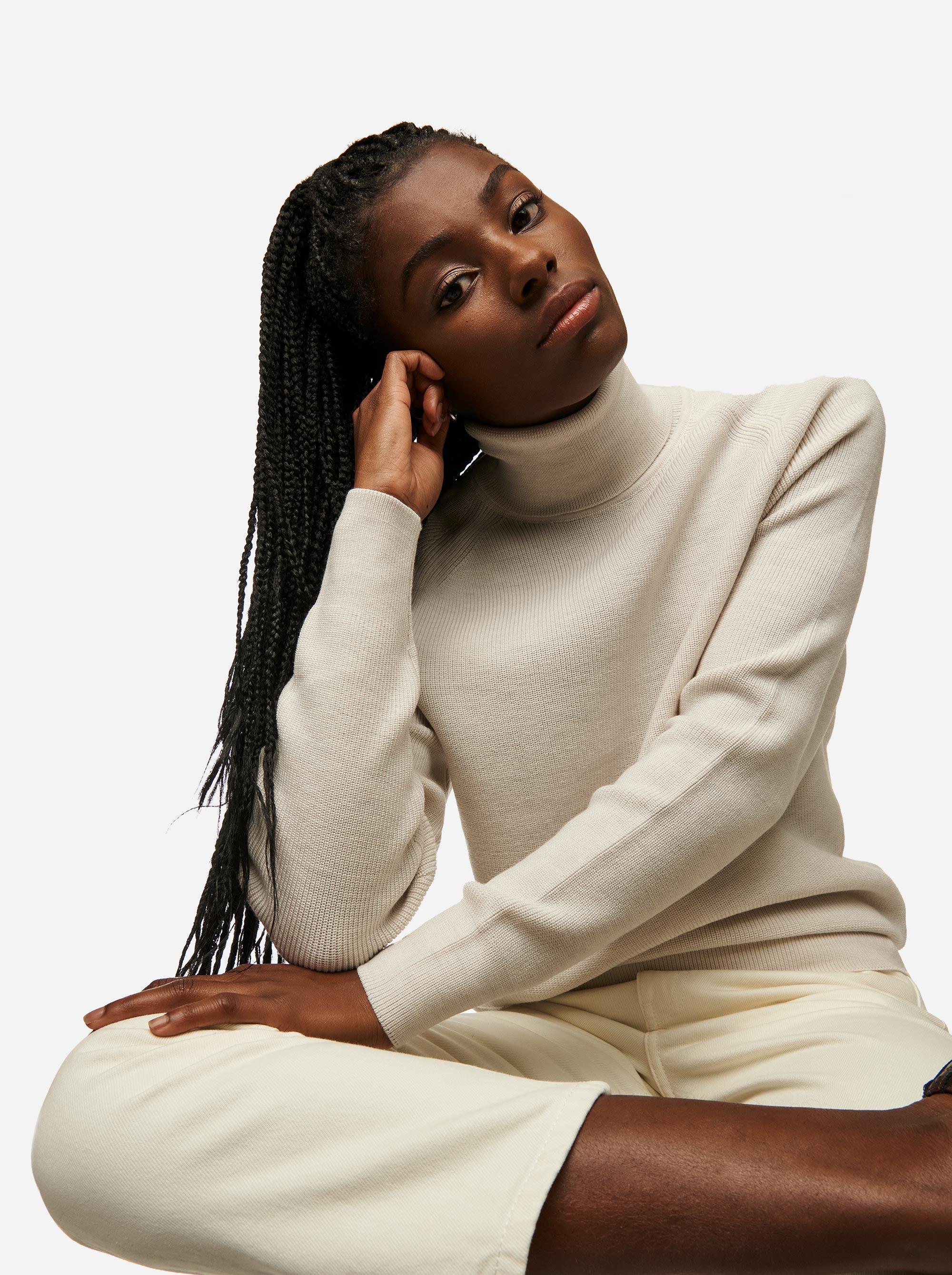 Teym - Turtleneck - The Merino Sweater - Women - White - 4