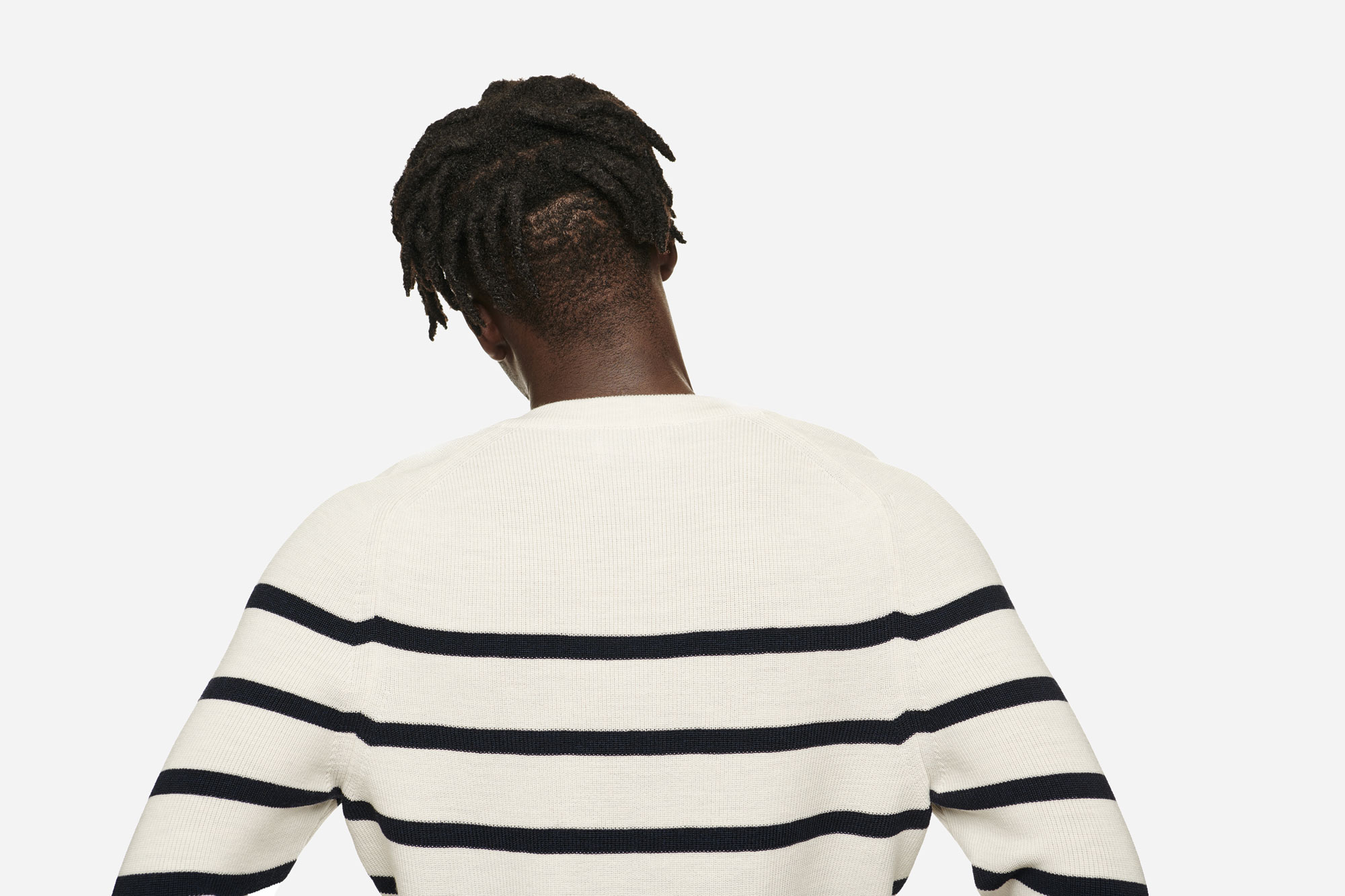 Teym - V-Neck - The Merino Sweater - Men - Striped - 2
