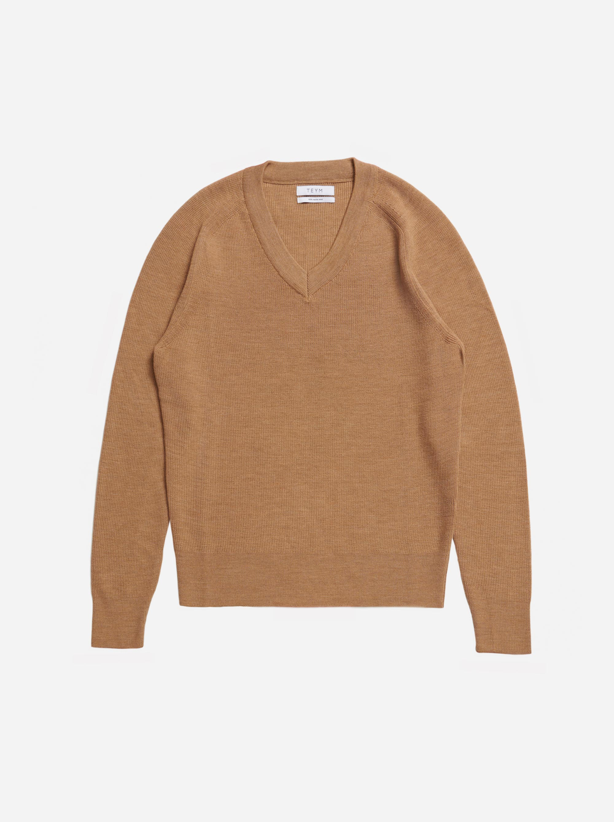 Teym - V-Neck - The Merino Sweater - Women - Camel - 4