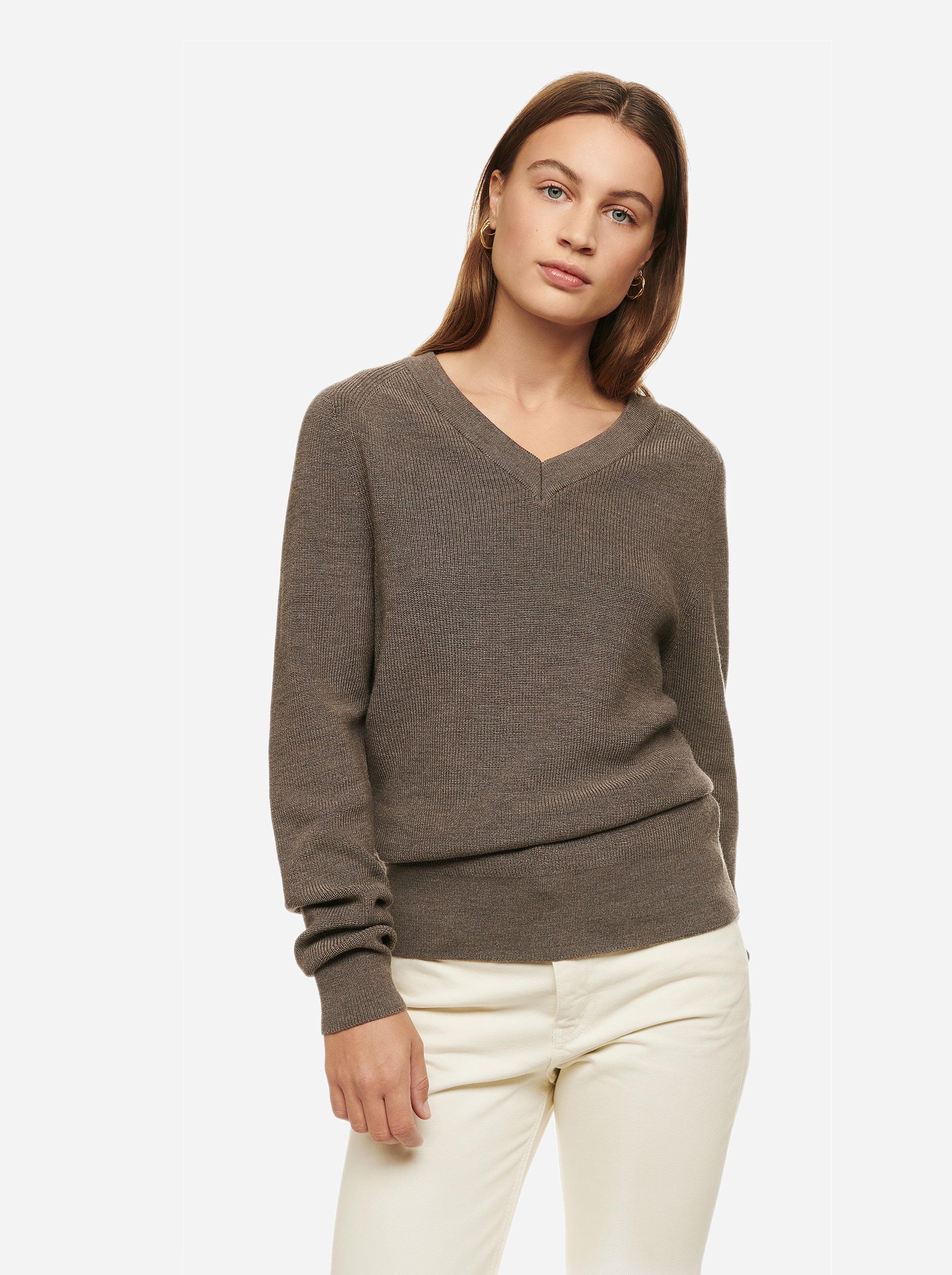 Teym - V-Neck - The Merino Sweater - Women - Grey - 1